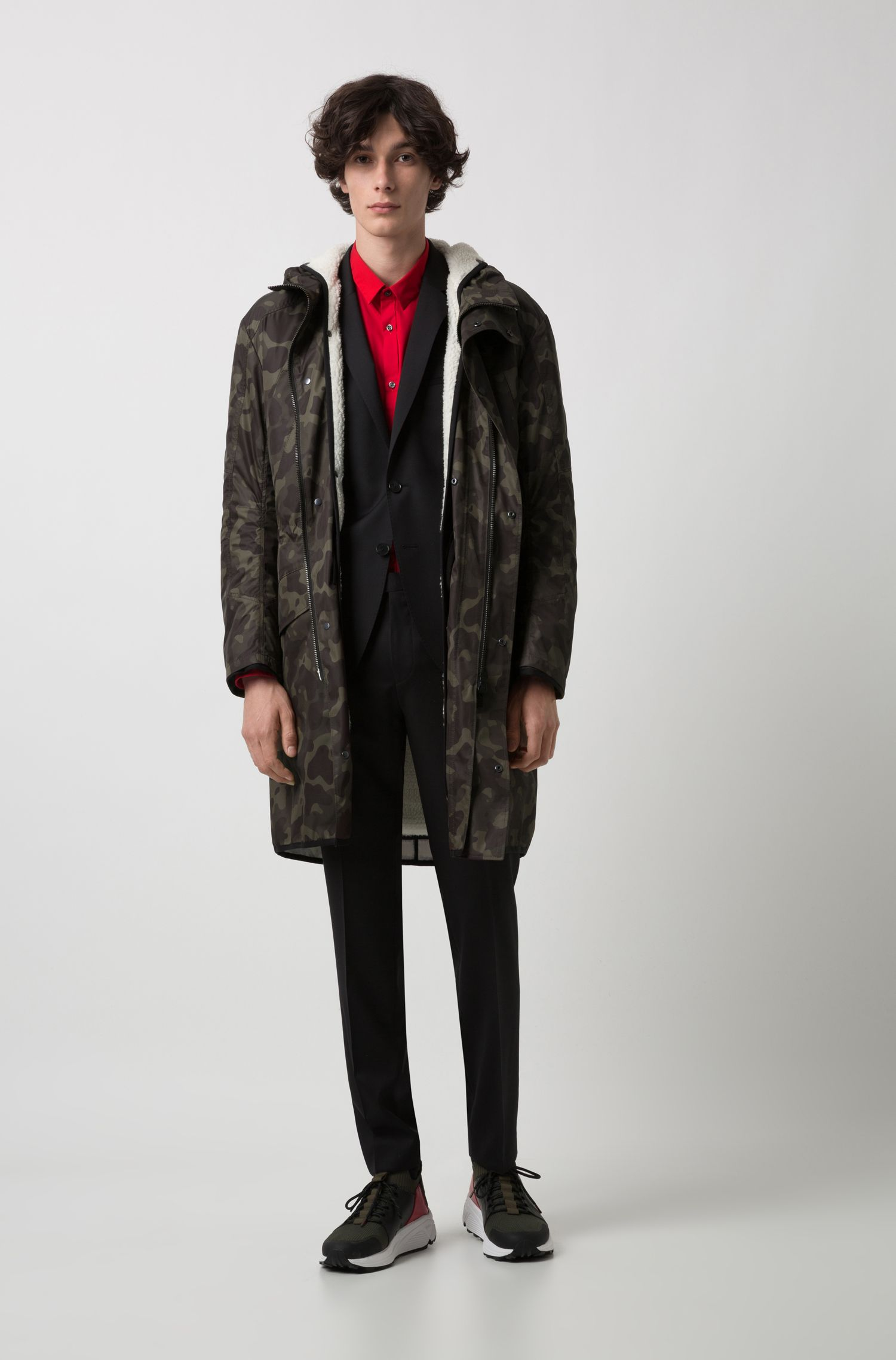 Costume Extra Slim Fit en laine vierge naturellement stretch