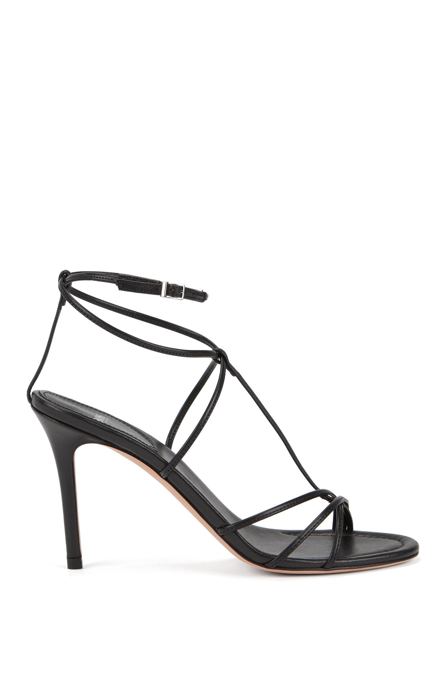 Sandales en cuir italien de la collection Gallery, Noir