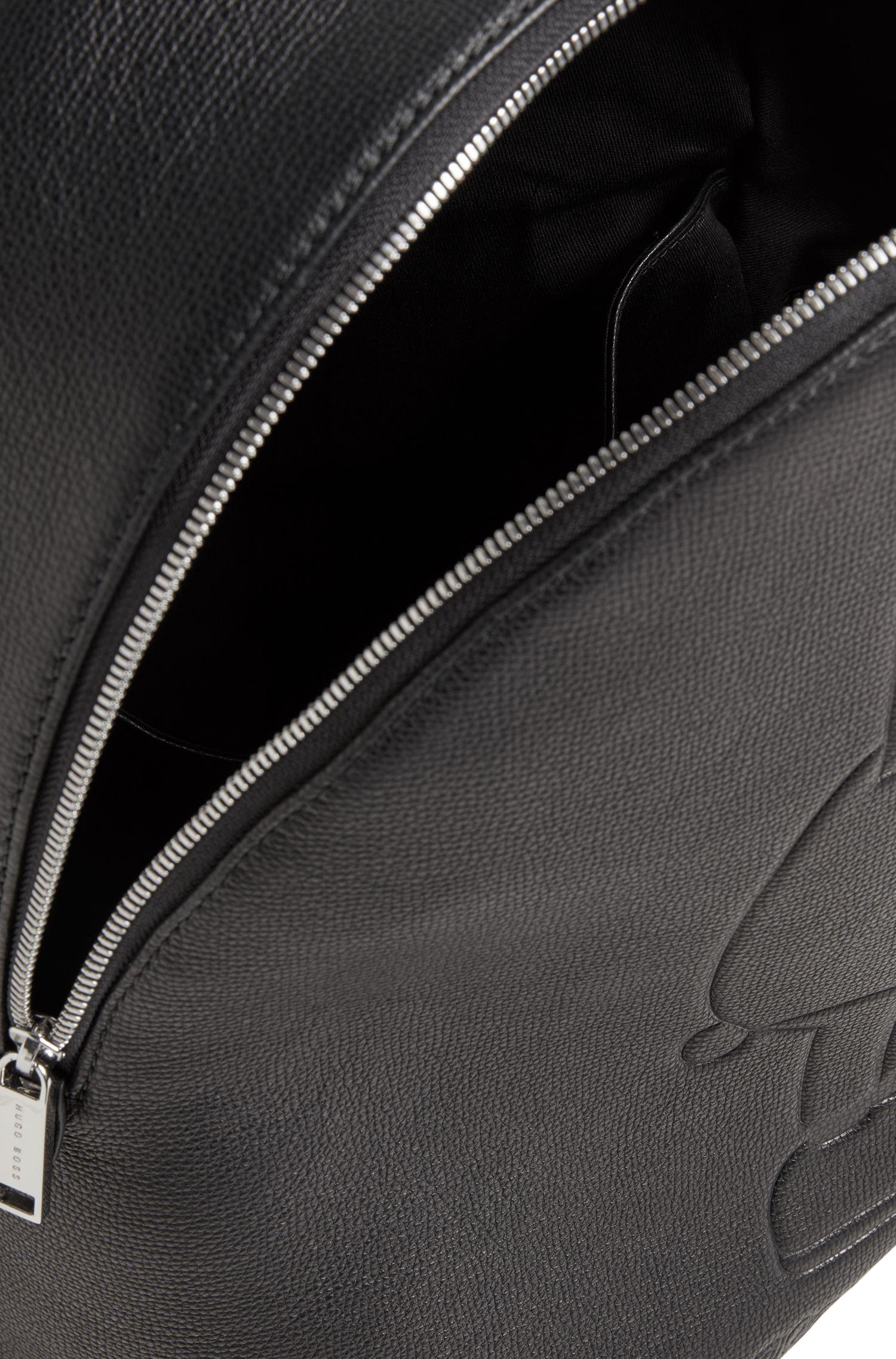 Mochila de edición limitada en piel con estampado del conejito de Jeremyville, Negro