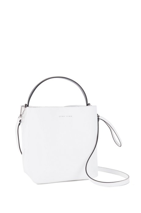 HUGO BOSS Gallery Collection bucket bag in monochrome Italian nappa leather 3ohxf