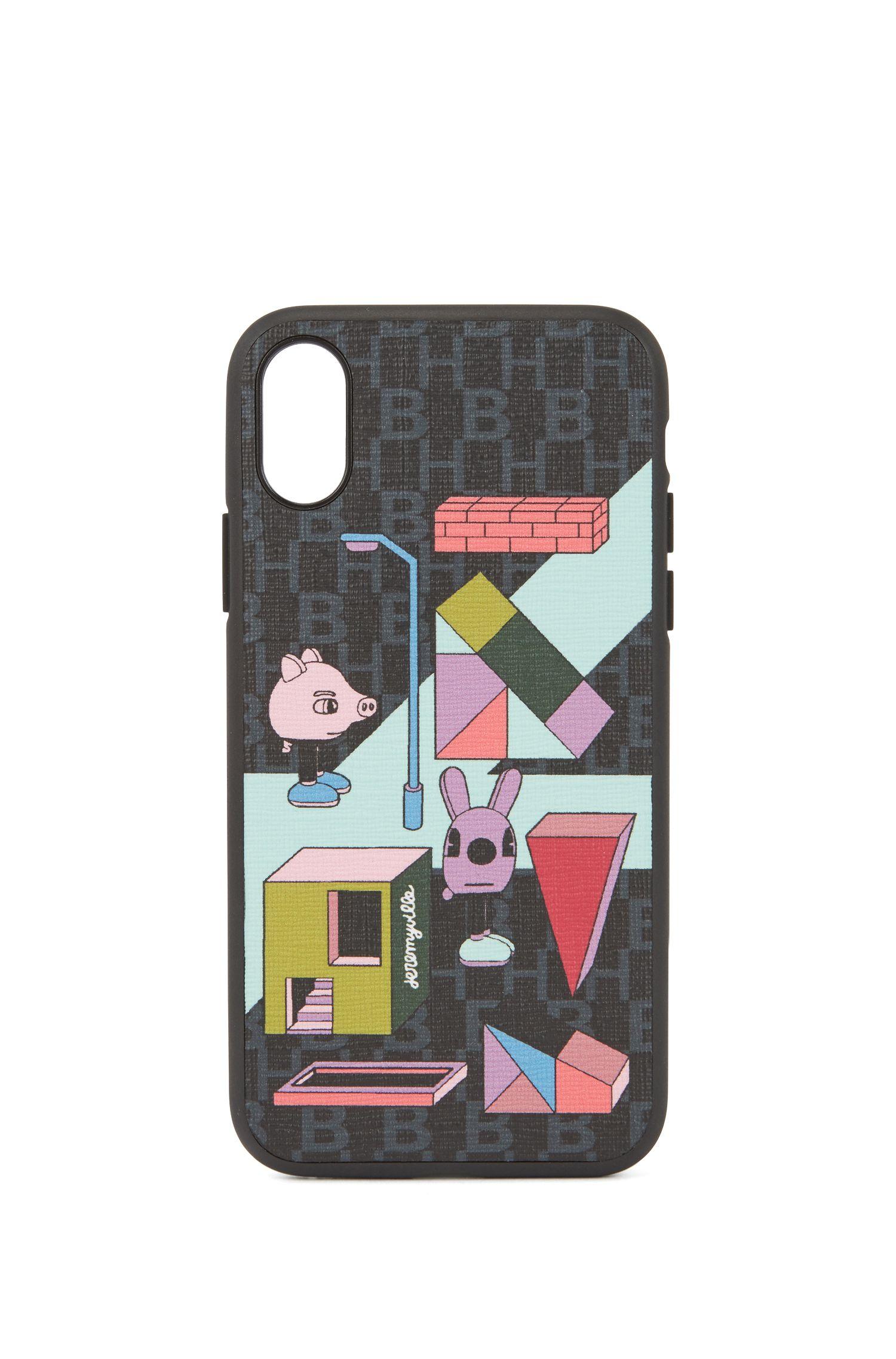 Limited Edition Hülle für iPhoneX mit mehrfarbigem Jeremyville-Print, Gemustert