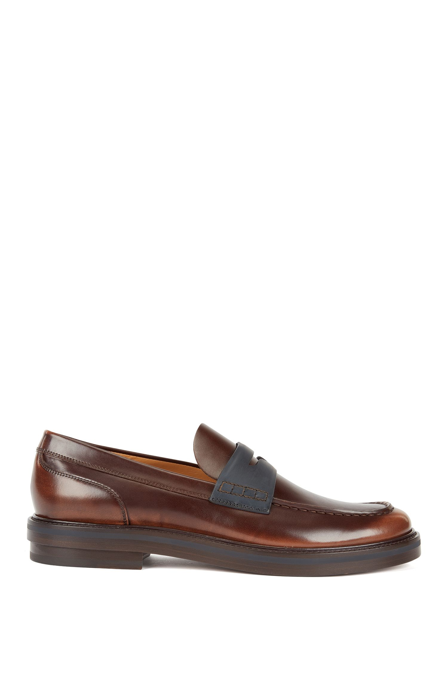 Fashion Show Capsule loafers in calf leather, Brown