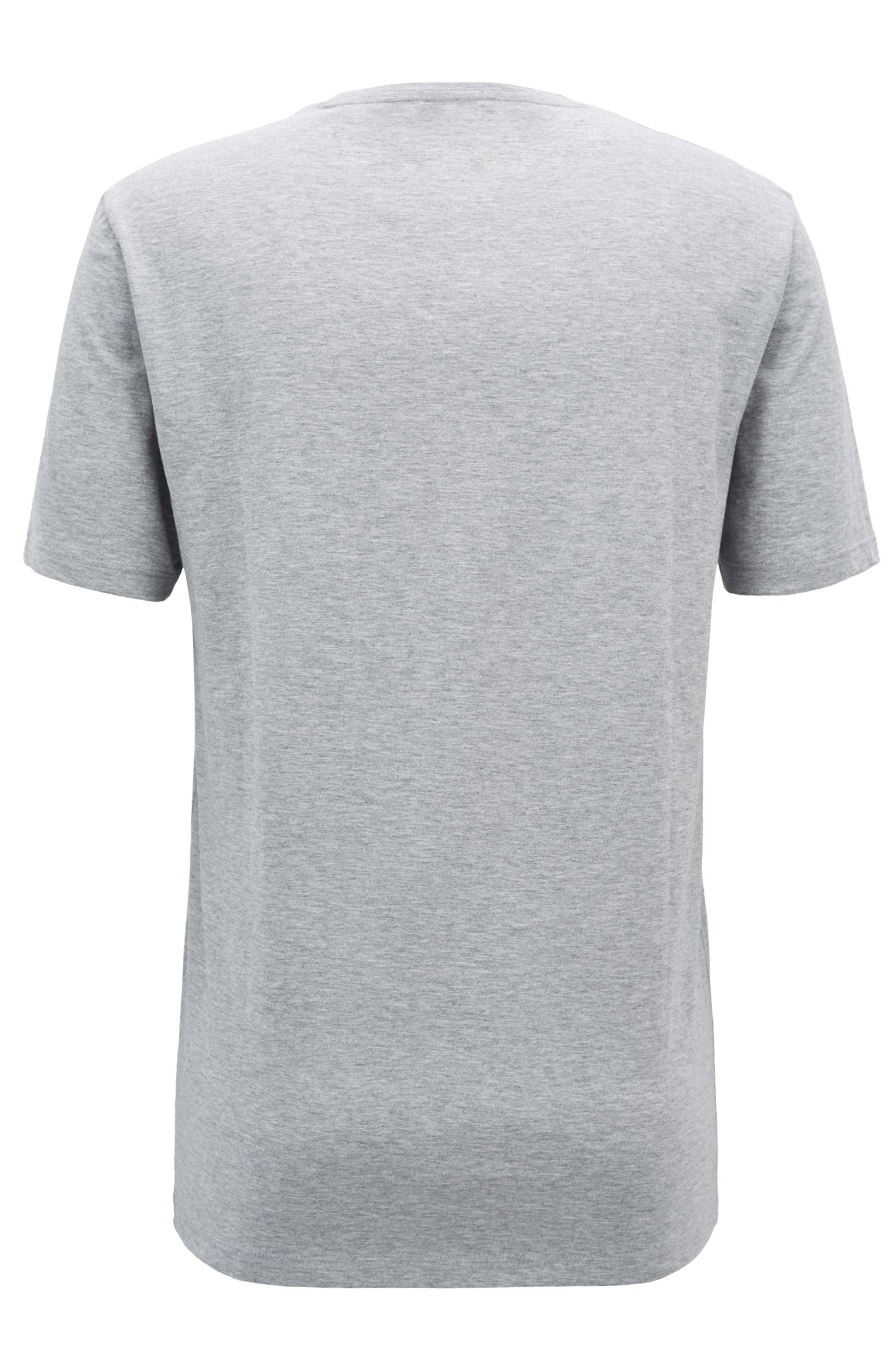 T-shirt Regular Fit avec logo imprimé bicolore, Gris