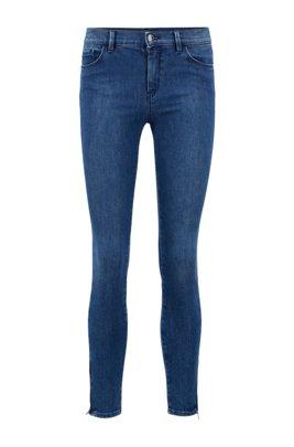 Skinny-fit jeans van comfortabel stretchdenim, Blauw