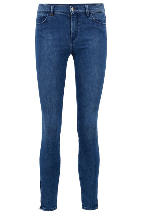 Skinny-fit jeans in comfort-stretch denim, Blue