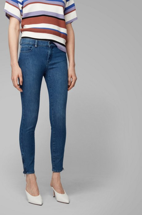 Jean Skinny Fit en denim stretch confortable, Bleu