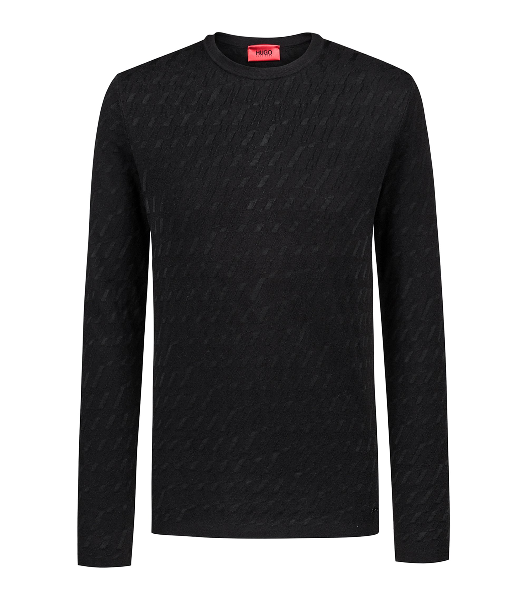Bits & Bytes Capsule patterned crew-neck sweater, Black