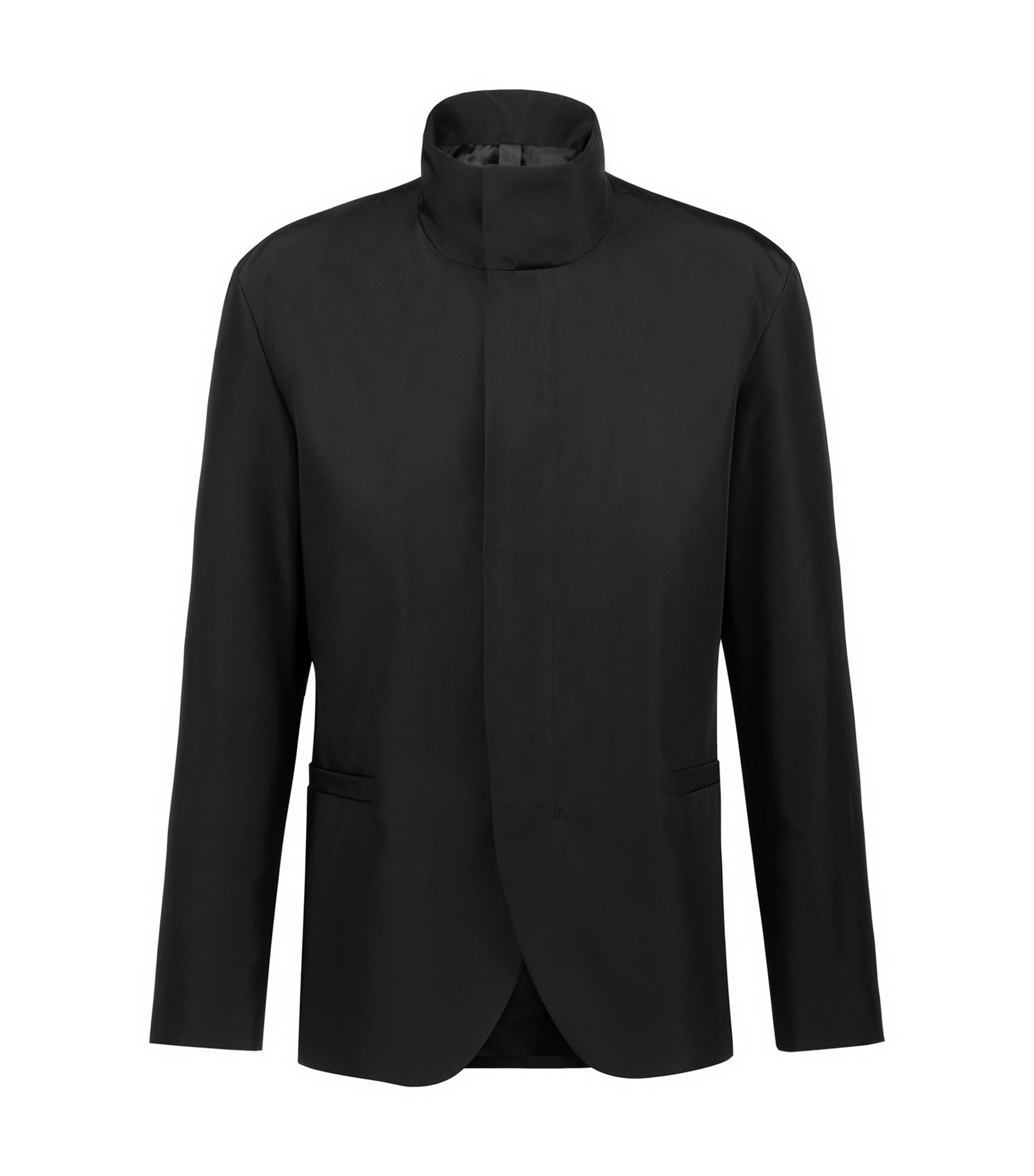 Bits & Bytes Capsule slim-fit jacket with stand collar, Black
