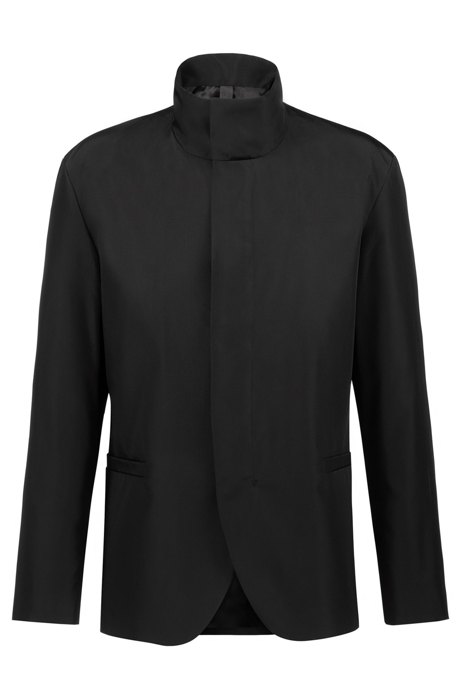 Veste Slim Fit à col montant de la collection capsule Bits & Bytes, Noir