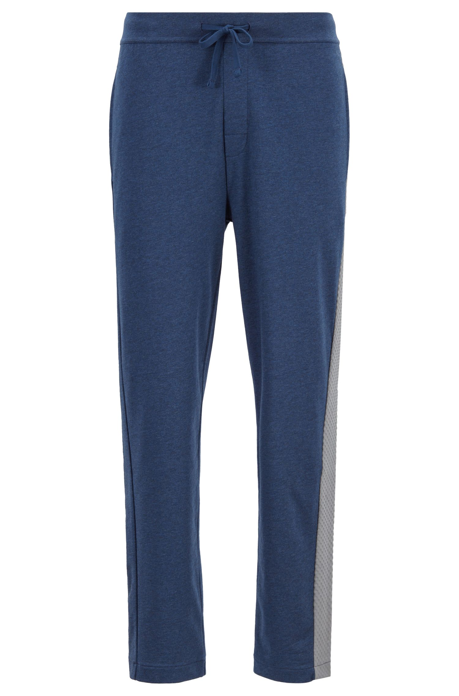 Loungewear-Hose aus French Terry mit Print in Mesh-Optik, Blau