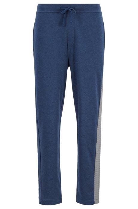 Loungewear-Hose aus French Terry mit Print in Mesh-Optik, Blau