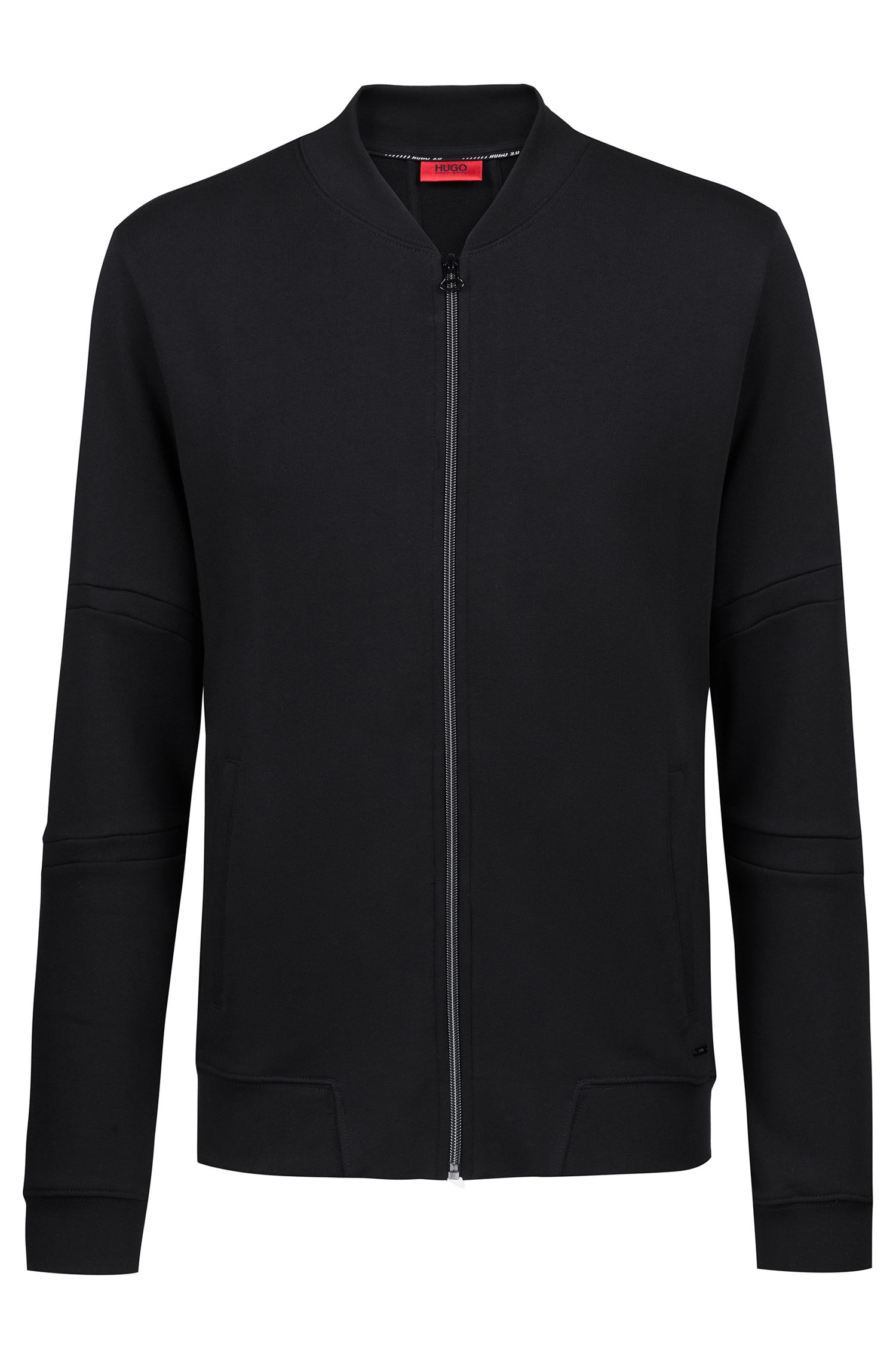 Sweat zippé en molleton de la collection capsule Bits & Bytes, Noir