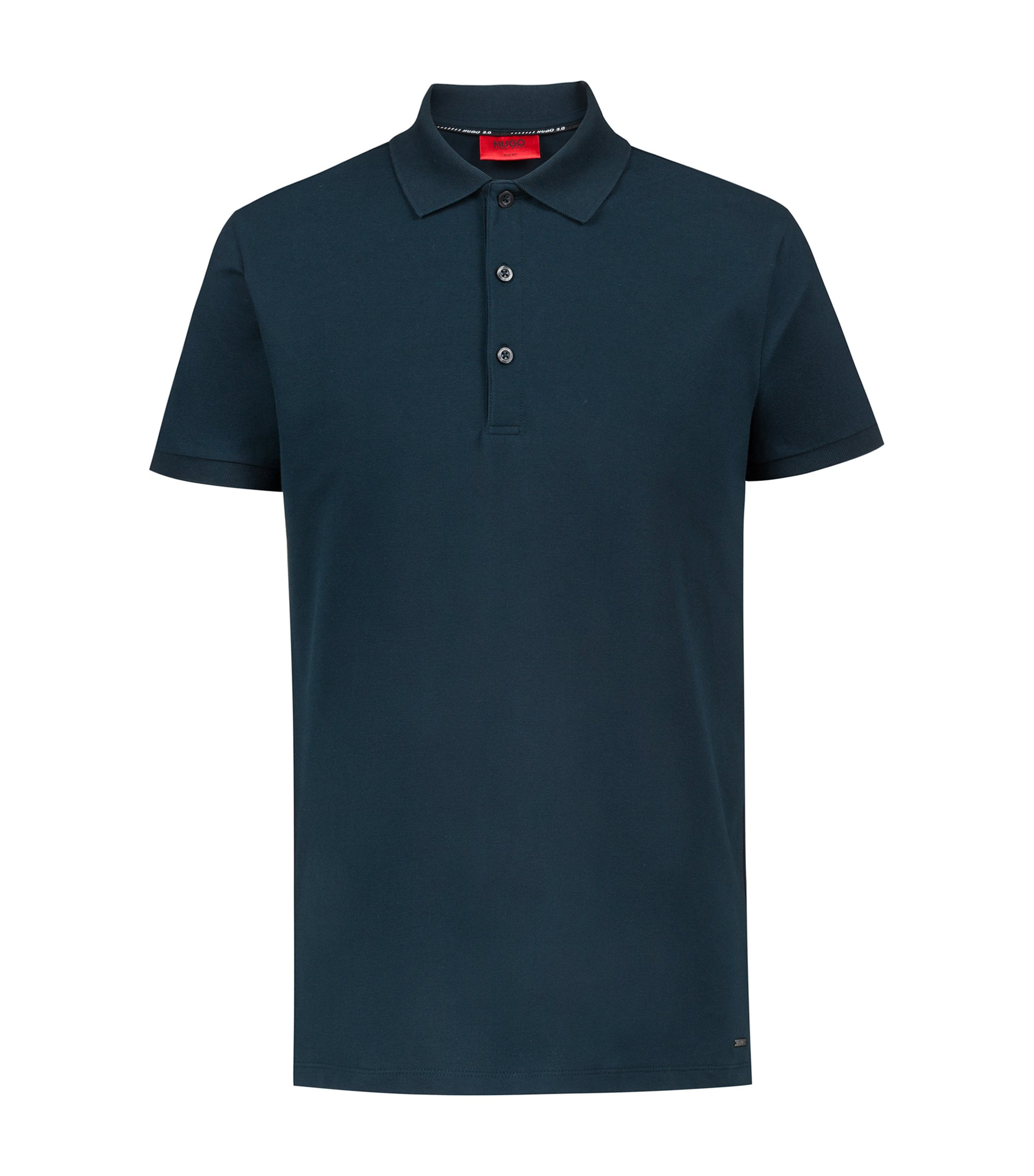 Bits & Bytes Capsule slim-fit polo shirt in stretch piqué, Dark Green