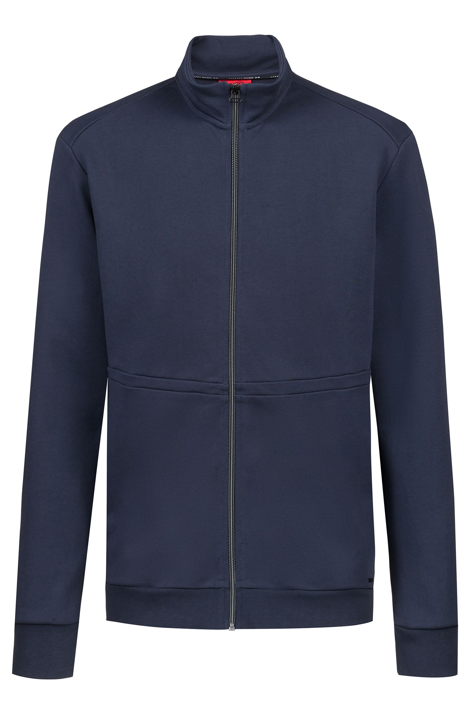 Sweater met ritssluiting en opstaande kraag uit de Bits & Bytes-capsule, Donkerblauw