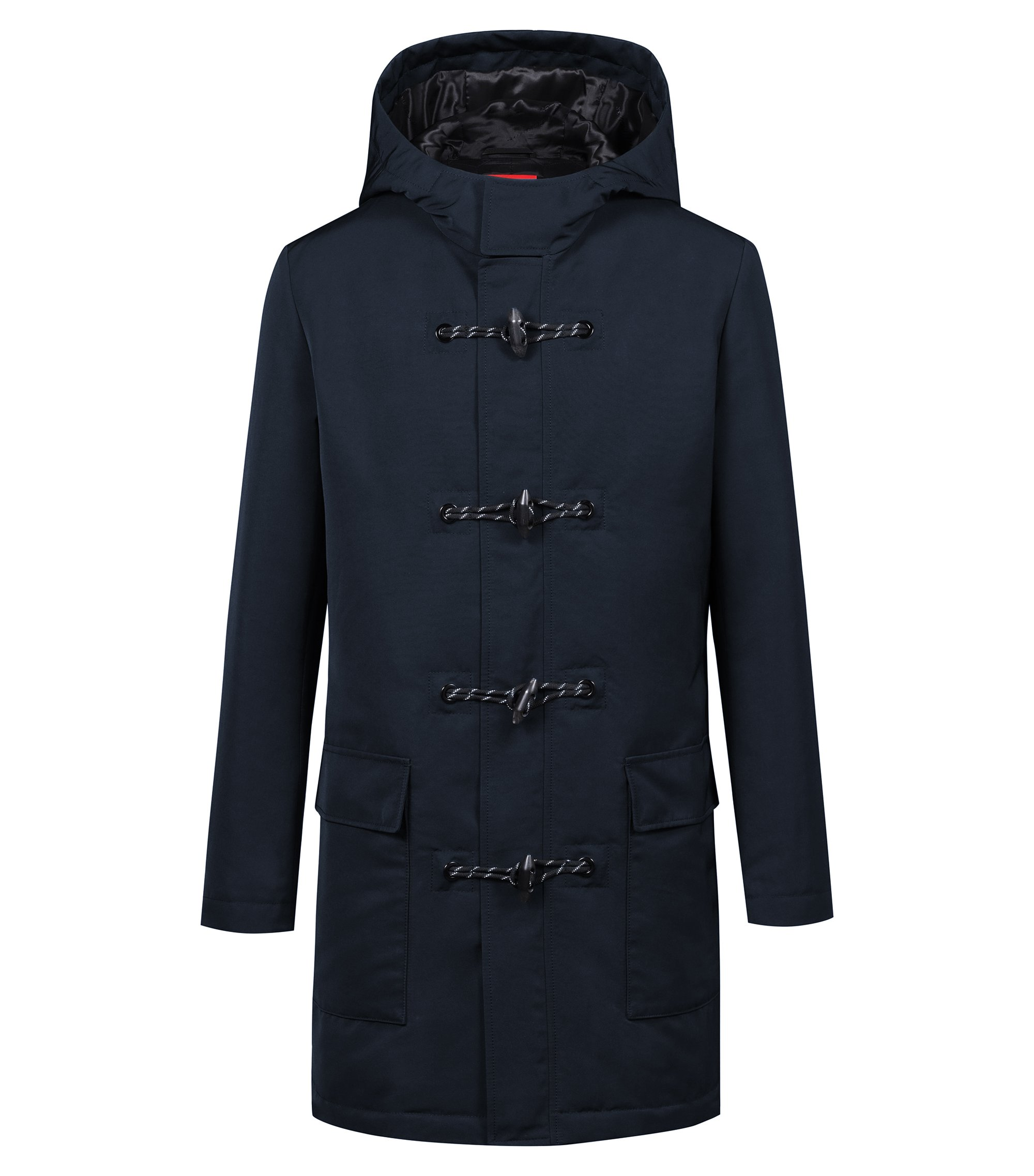 Bits & Bytes Capsule coat in water-repellent fabric, Dark Blue