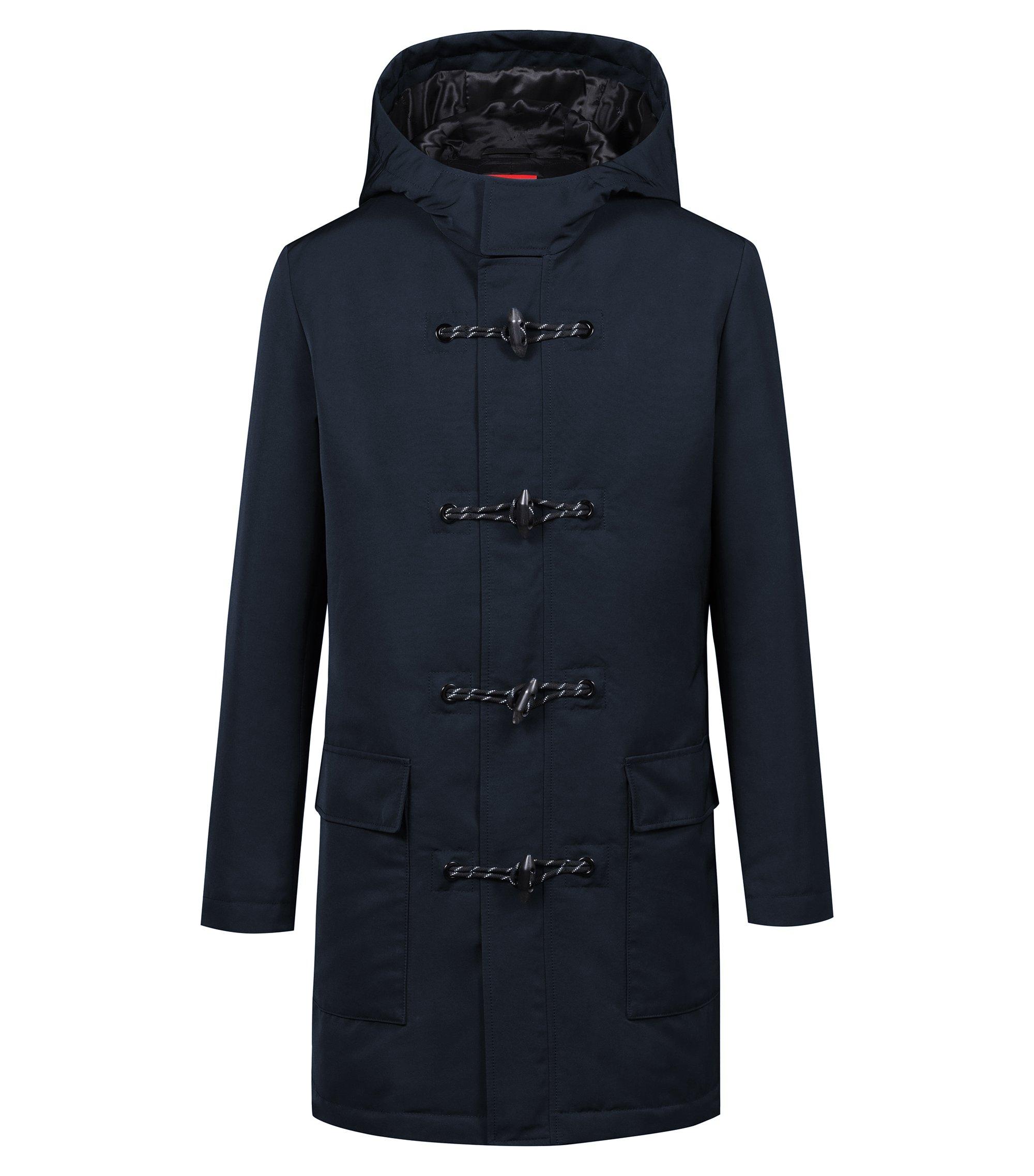 Manteau en tissu imperméable de la collection capsule Bits & Bytes, Bleu foncé