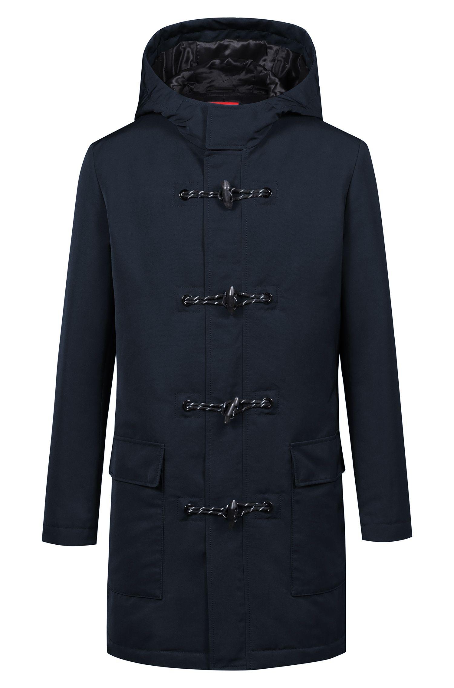 Wasserabweisender Regular-Fit Mantel aus der Bits&Bytes Capsule, Dunkelblau