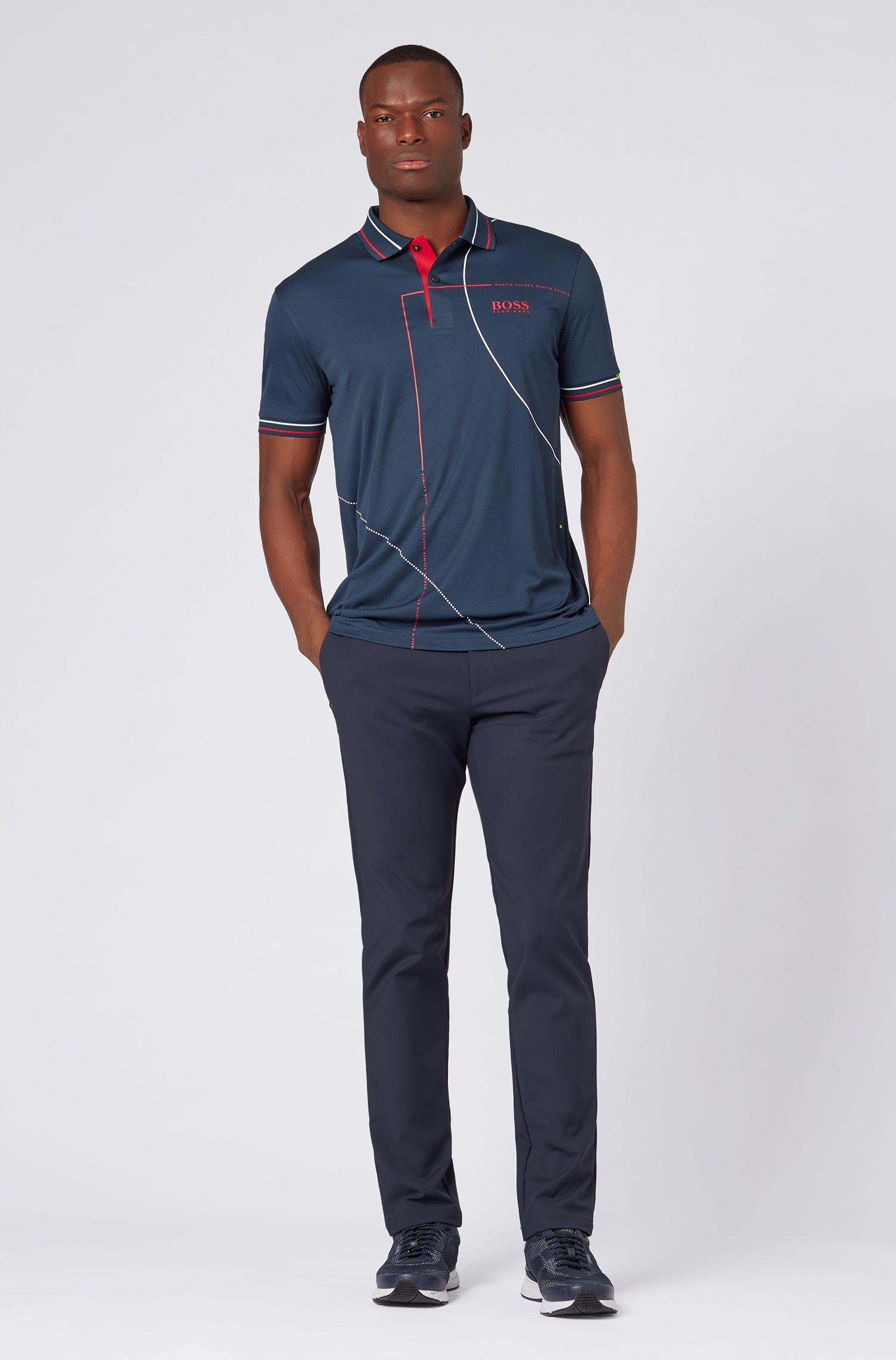 Martin Kaymer regular-fit polo shirt in performance fabric, Dark Blue