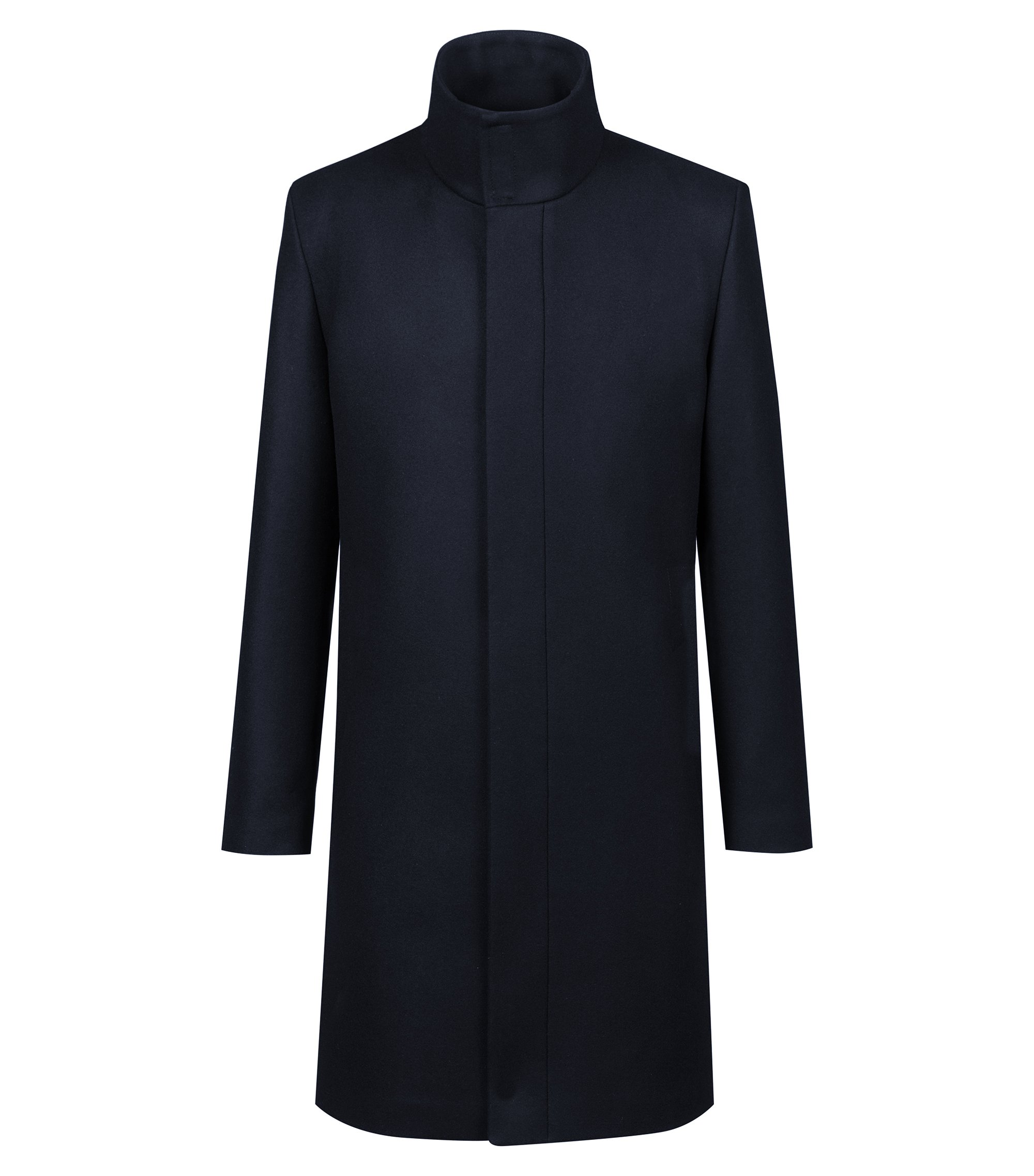 Bits & Bytes Capsule trench coat in a wool blend, Dark Blue