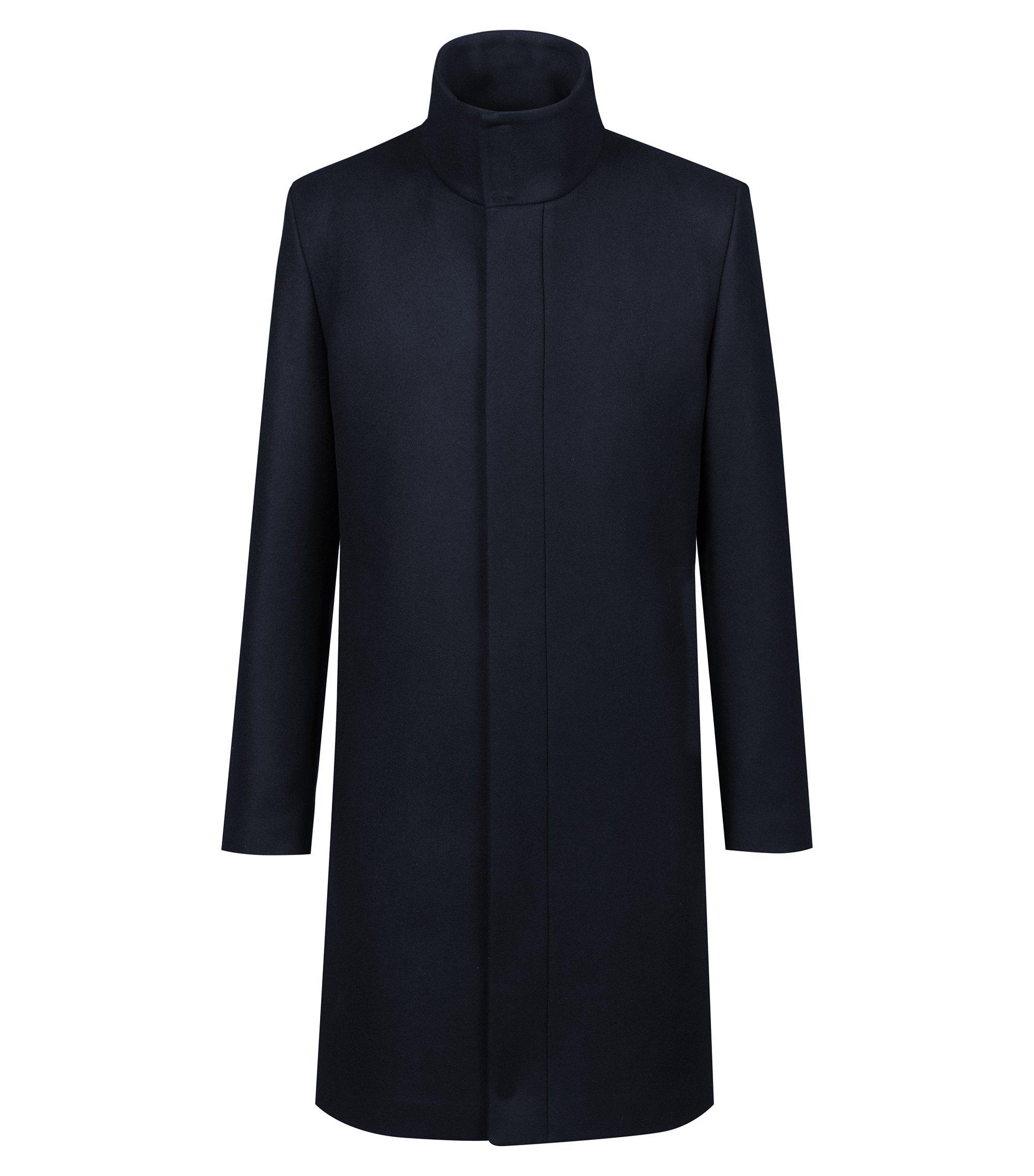 Trench in misto lana della capsule Bits & Bytes, Blu scuro
