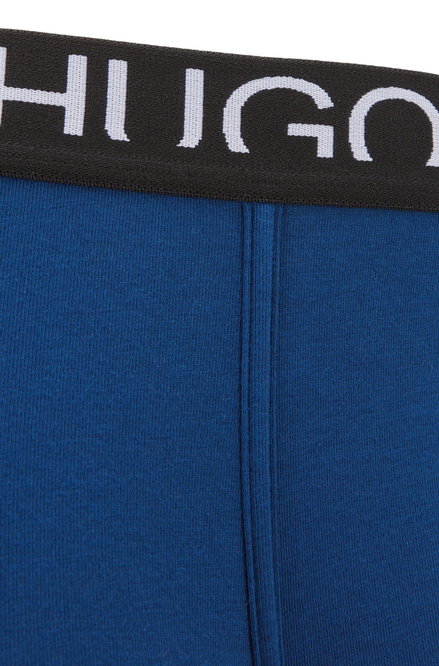 Boxershort van single jersey met afgesneden logo, Blauw