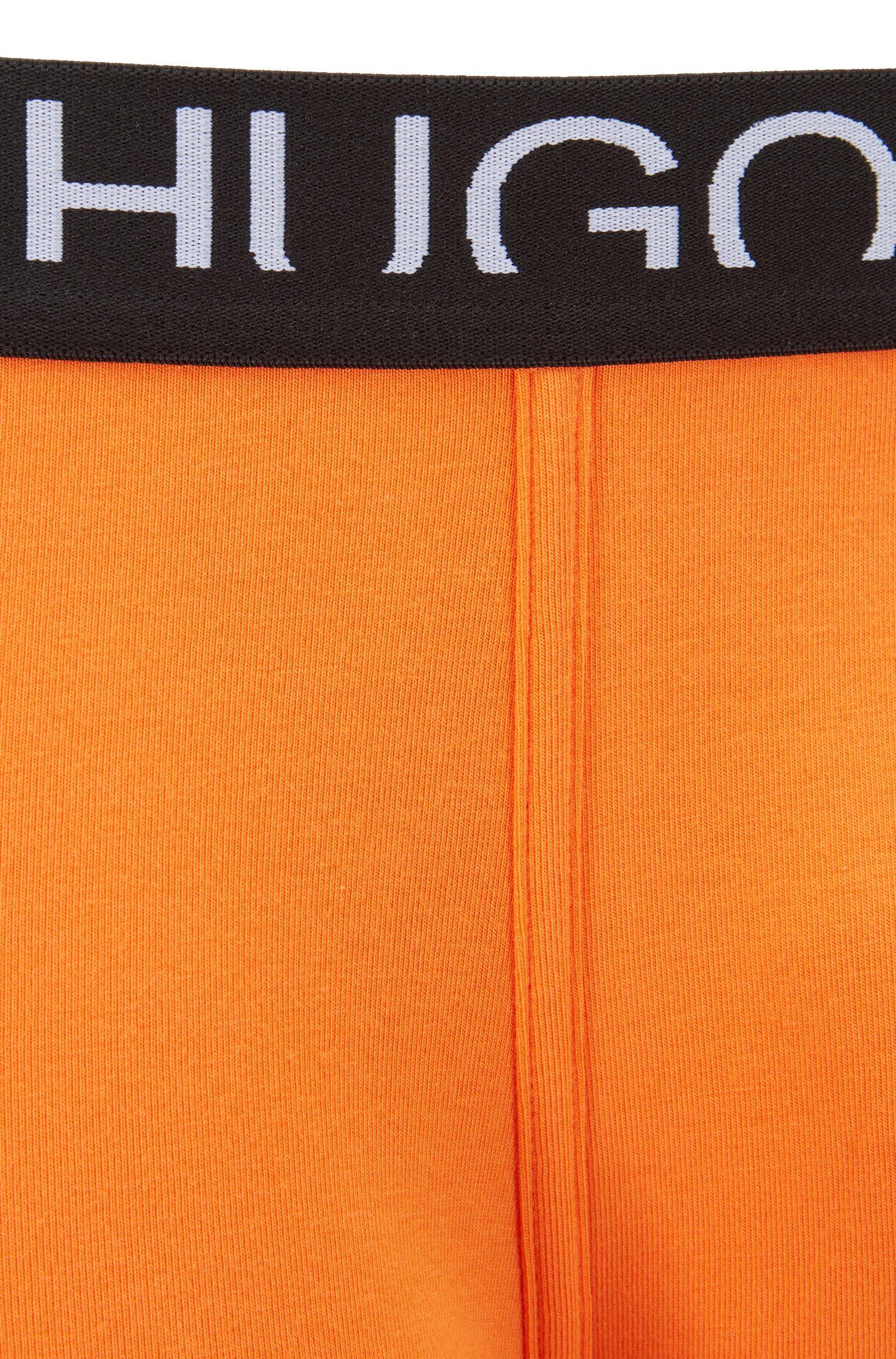 Boxershorts aus Single Jersey mit abgeschnittenem Logo, Dunkelorange