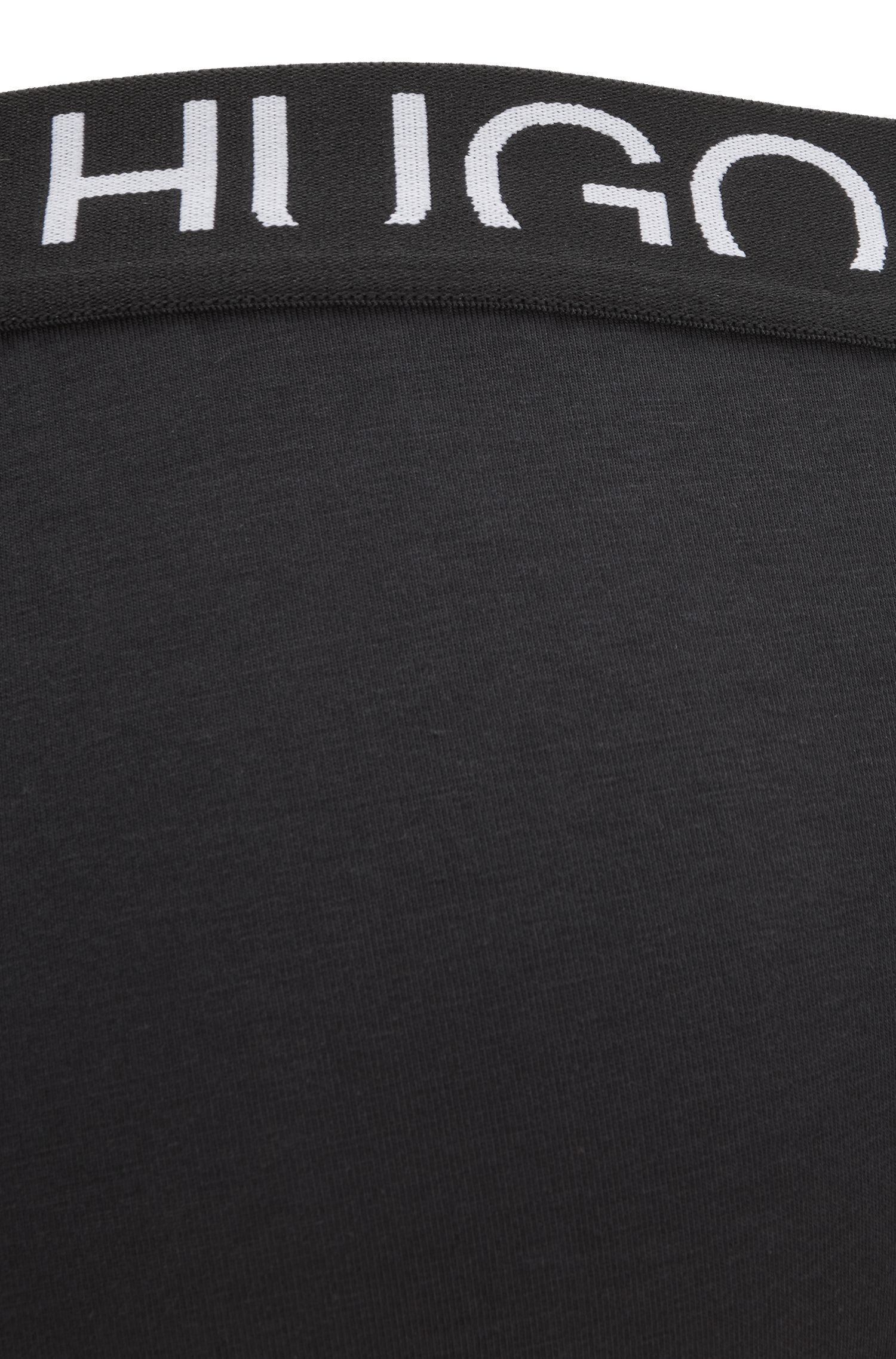 Slips en jersey simple à logo revisité, Noir