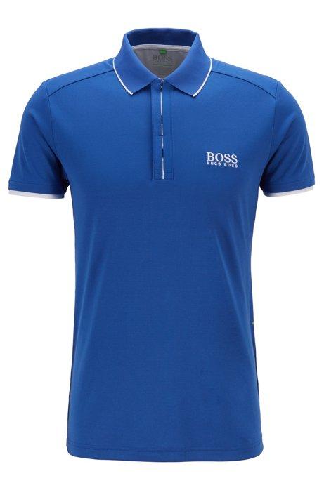 Poloshirt aus Waffel-Piqué mit S.Café®, Blau