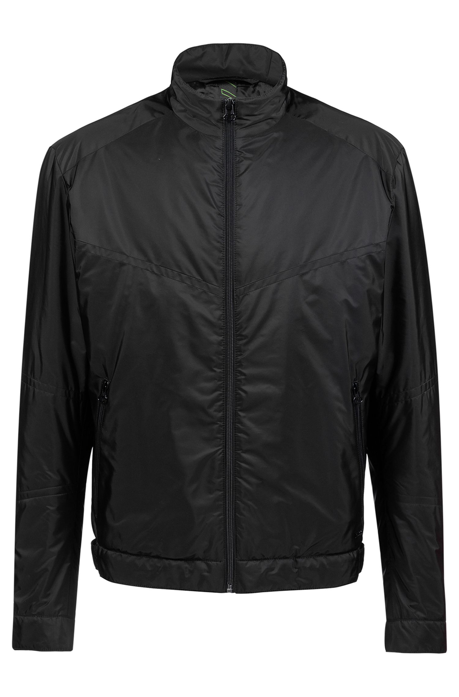 Bits & Bytes Capsule jacket in water-repellent technical fabric, Black