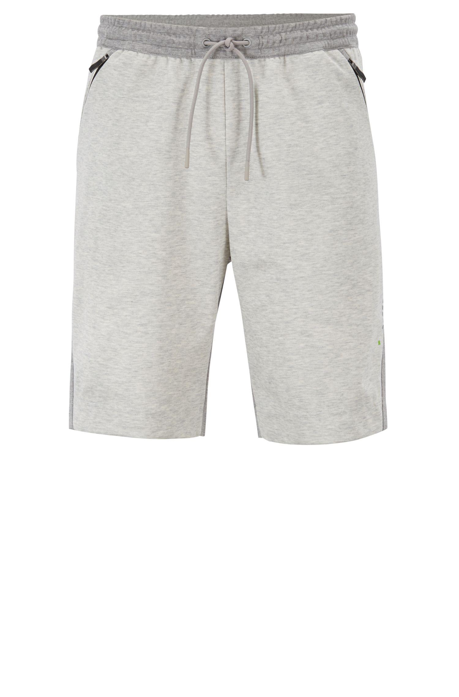 Pantaloncini slim fit in tessuto idrorepellente traspirante, Grigio chiaro