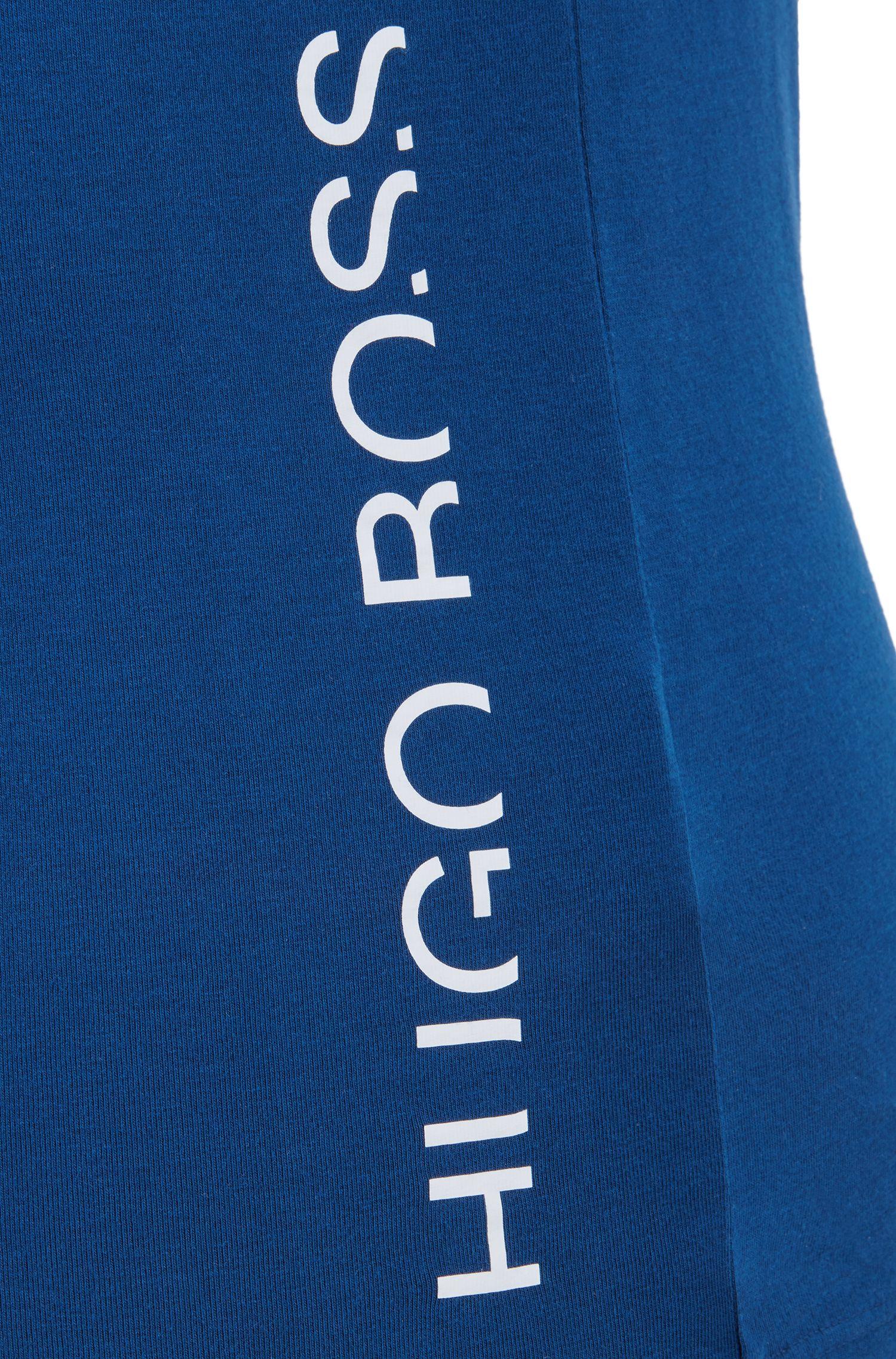 Tanktop mit abgeschnittenem Logo, Blau