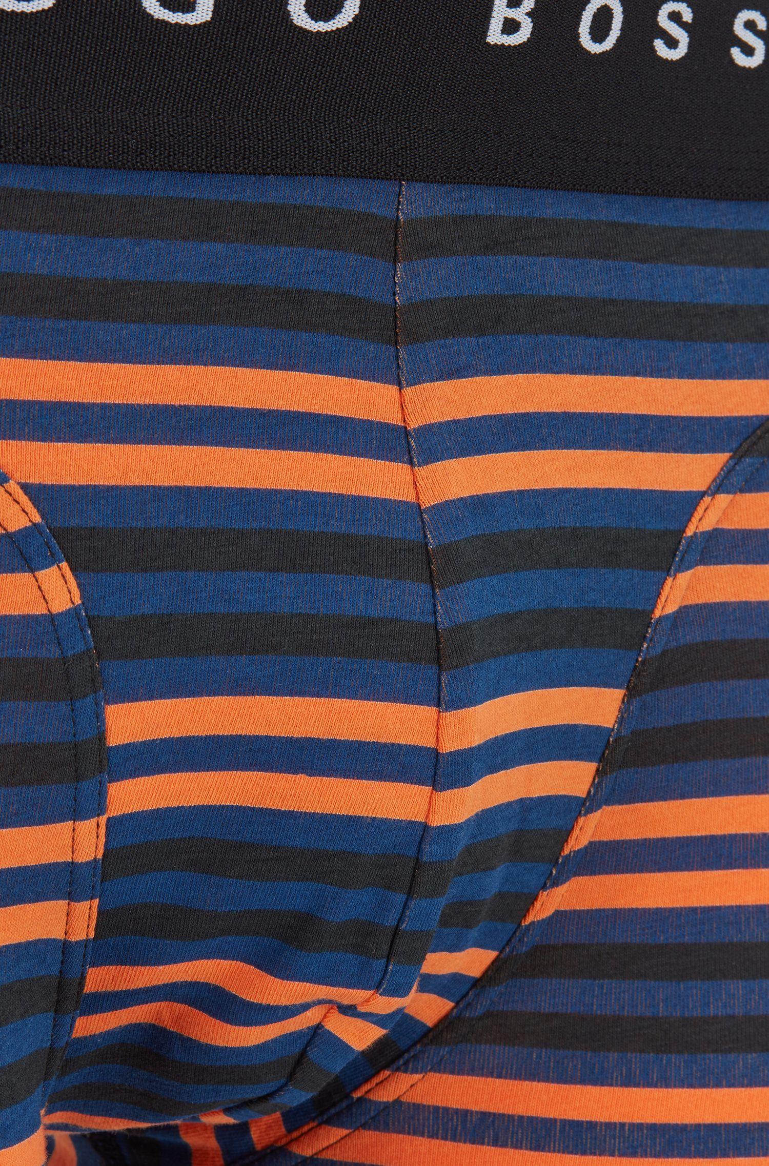Lot de deux boxers en coton stretch, Bleu