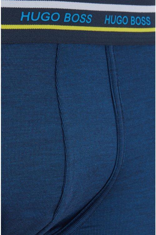 Hugo Boss - Calzoncillos bóxer de corte recto en modal elástico con cintura a rayas - 2