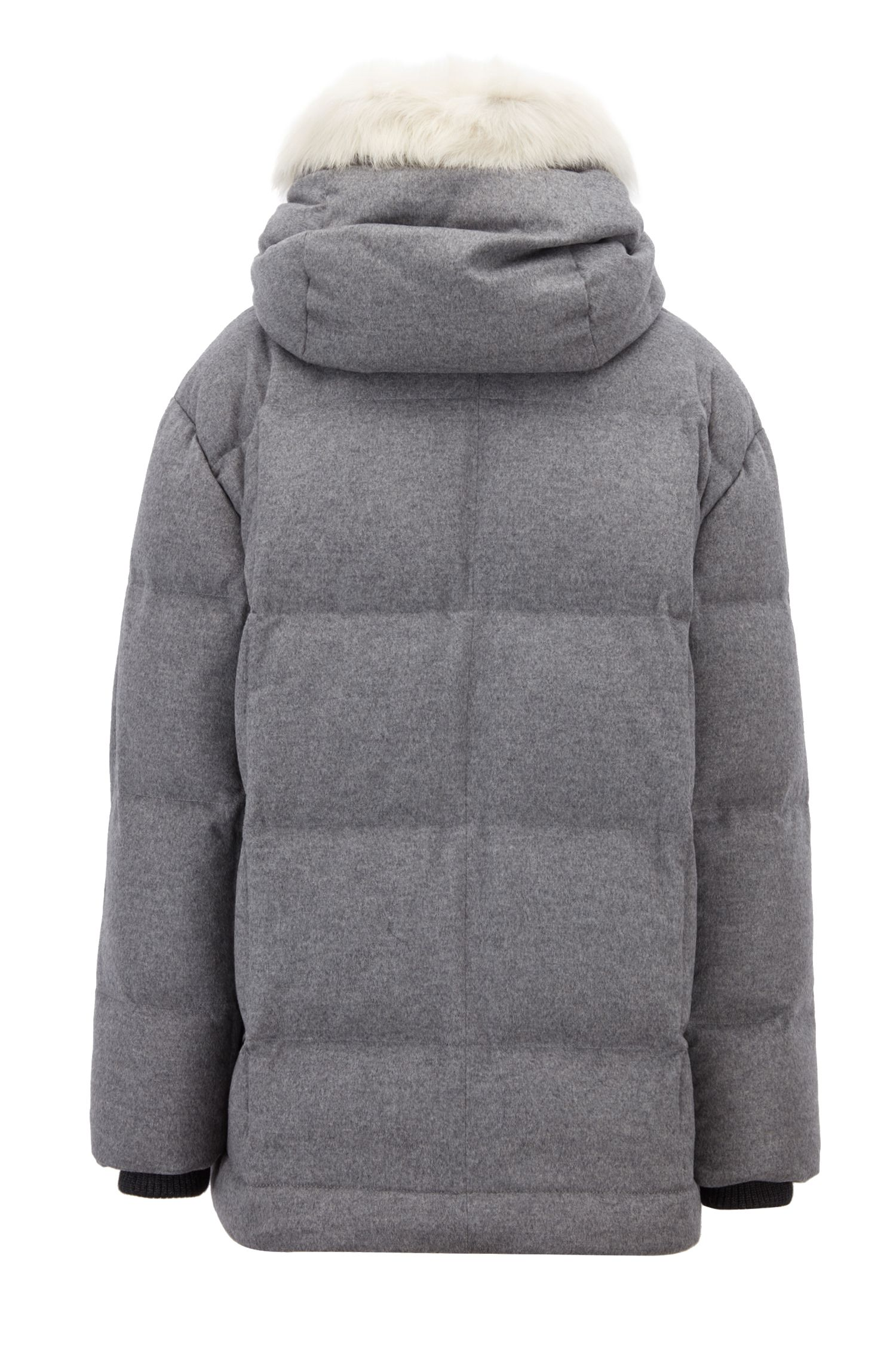 Parka en laine et duvet issue de la collection capsule Fashion Show, Gris