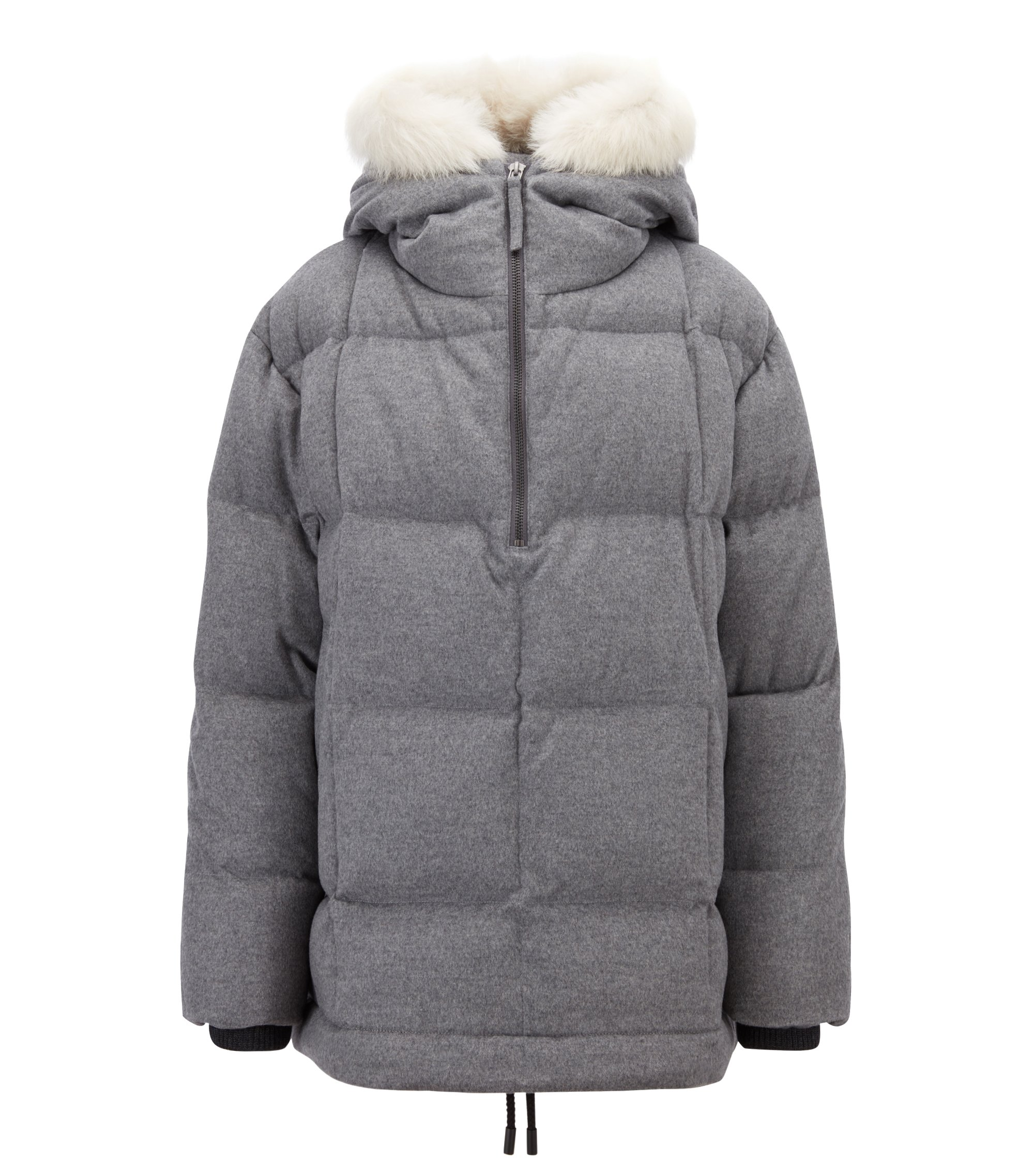 Fashion Show Capsule wool parka with down filling, Grey