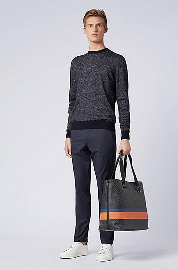 男士套头针织衫,  402_暗蓝色