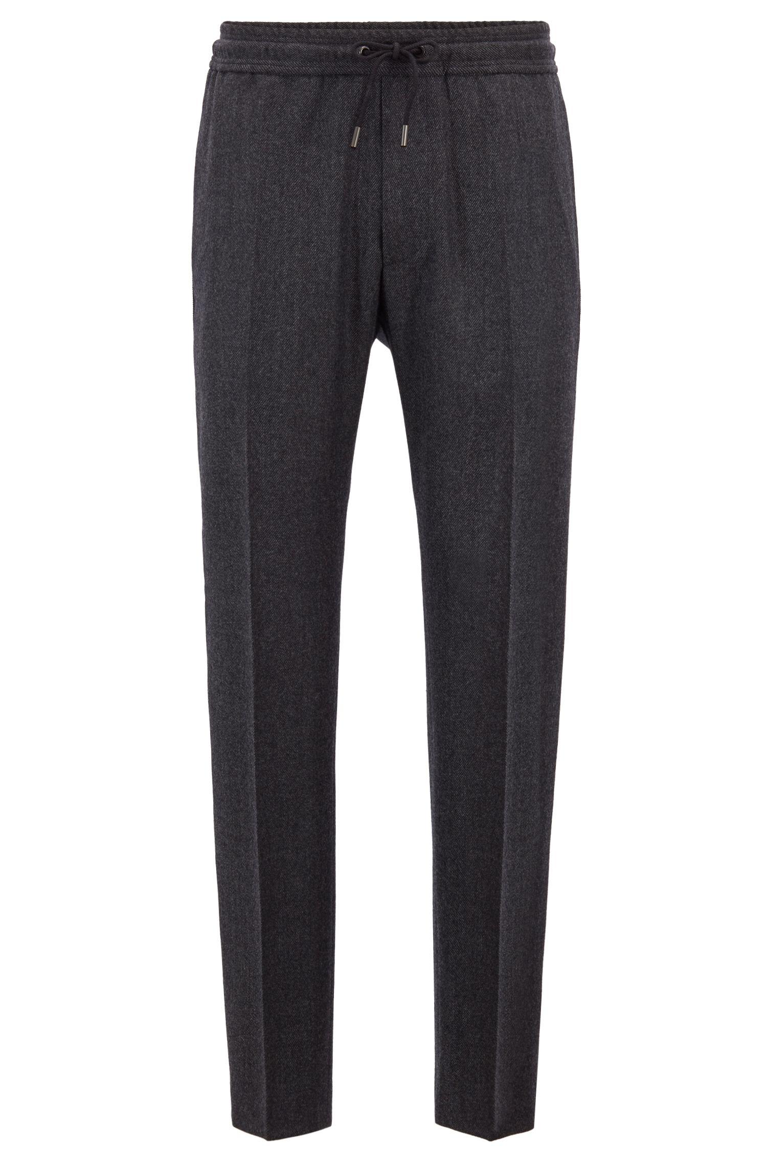Regular-Fit Hose mit Seitenstreifen und Cropped-Länge aus der Fashion Show Capsule, Grau