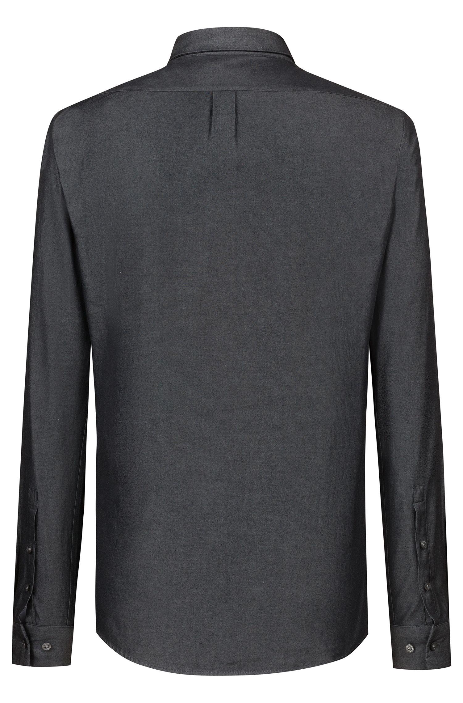 Chemise en jean Extra Slim Fit de la collection capsule Bits & Bytes, Noir