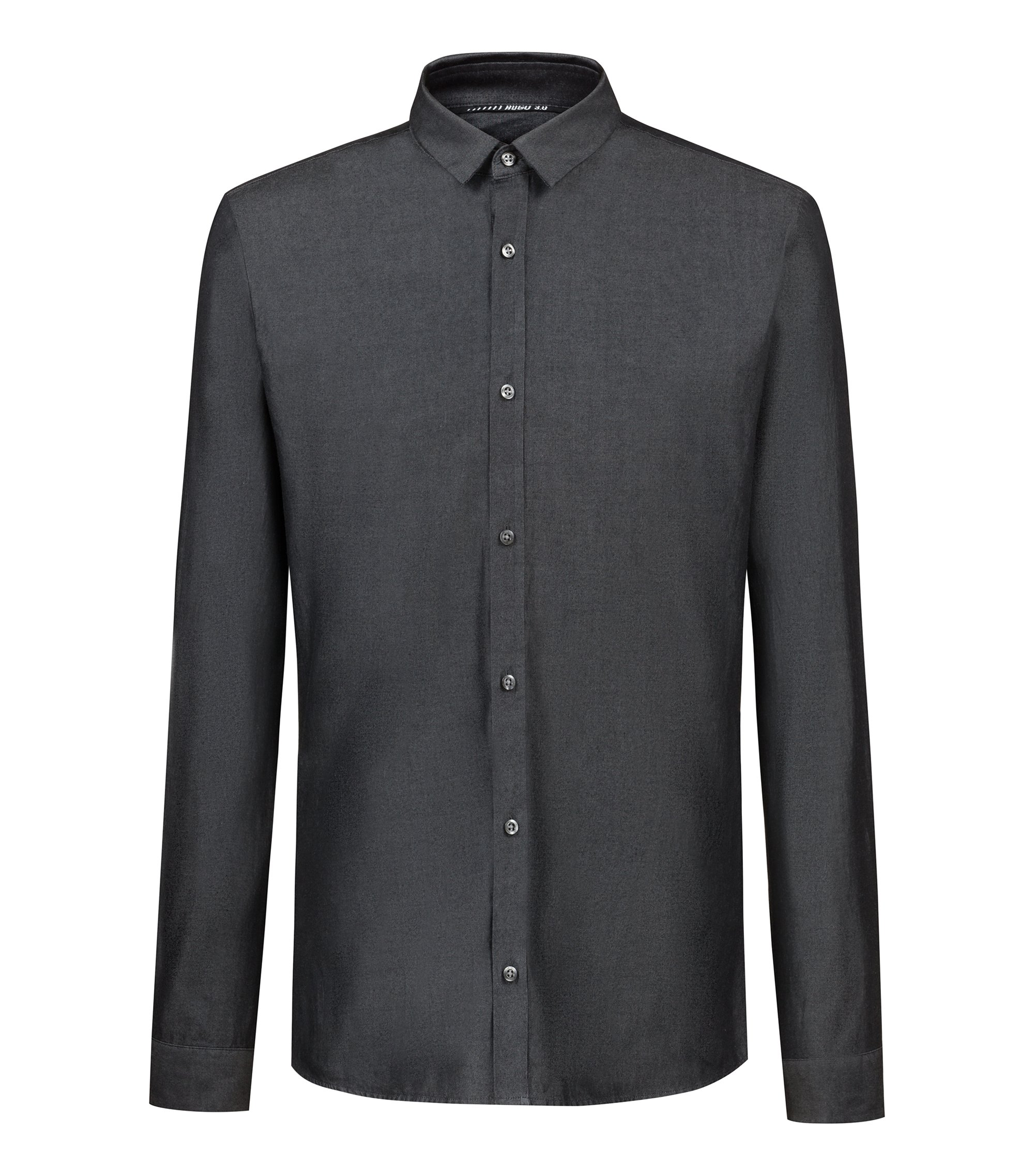Bits & Bytes Capsule extra-slim-fit denim shirt, Black