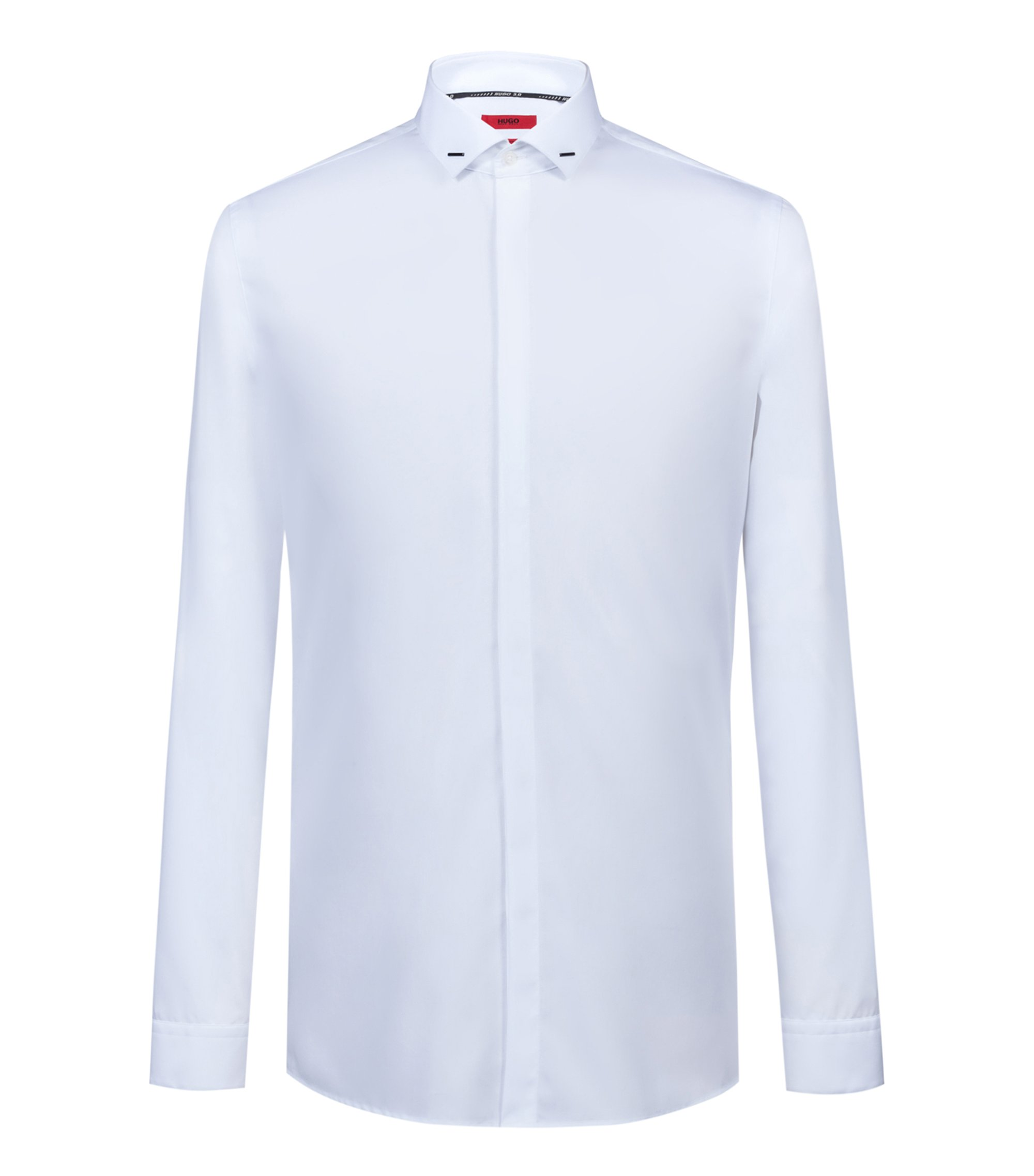 Bits & Bytes Capsule extra-slim-fit evening shirt in cotton, White