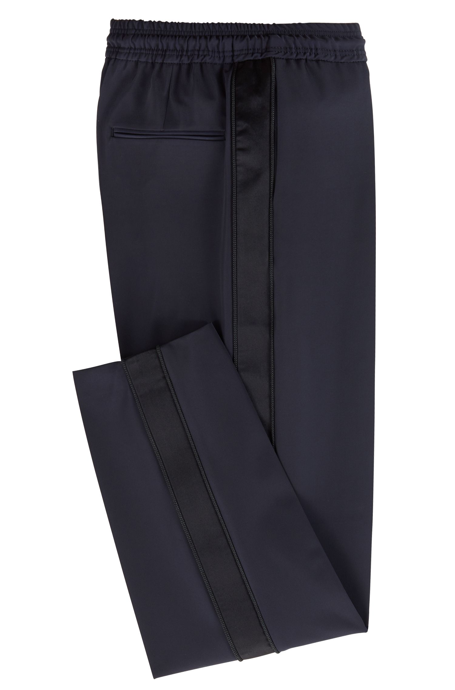 Pantaloni relaxed fit con nastro in satin della capsule Fashion Show, Blu scuro