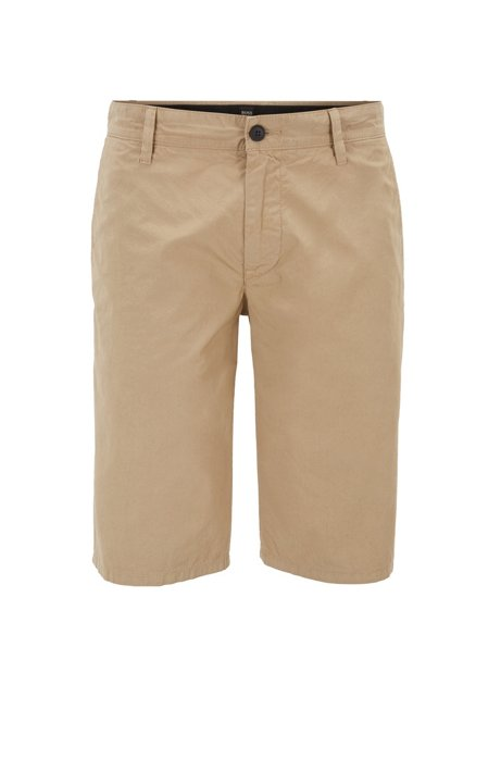2f261833 BOSS - Regular-fit reactive-dyed shorts in pure cotton