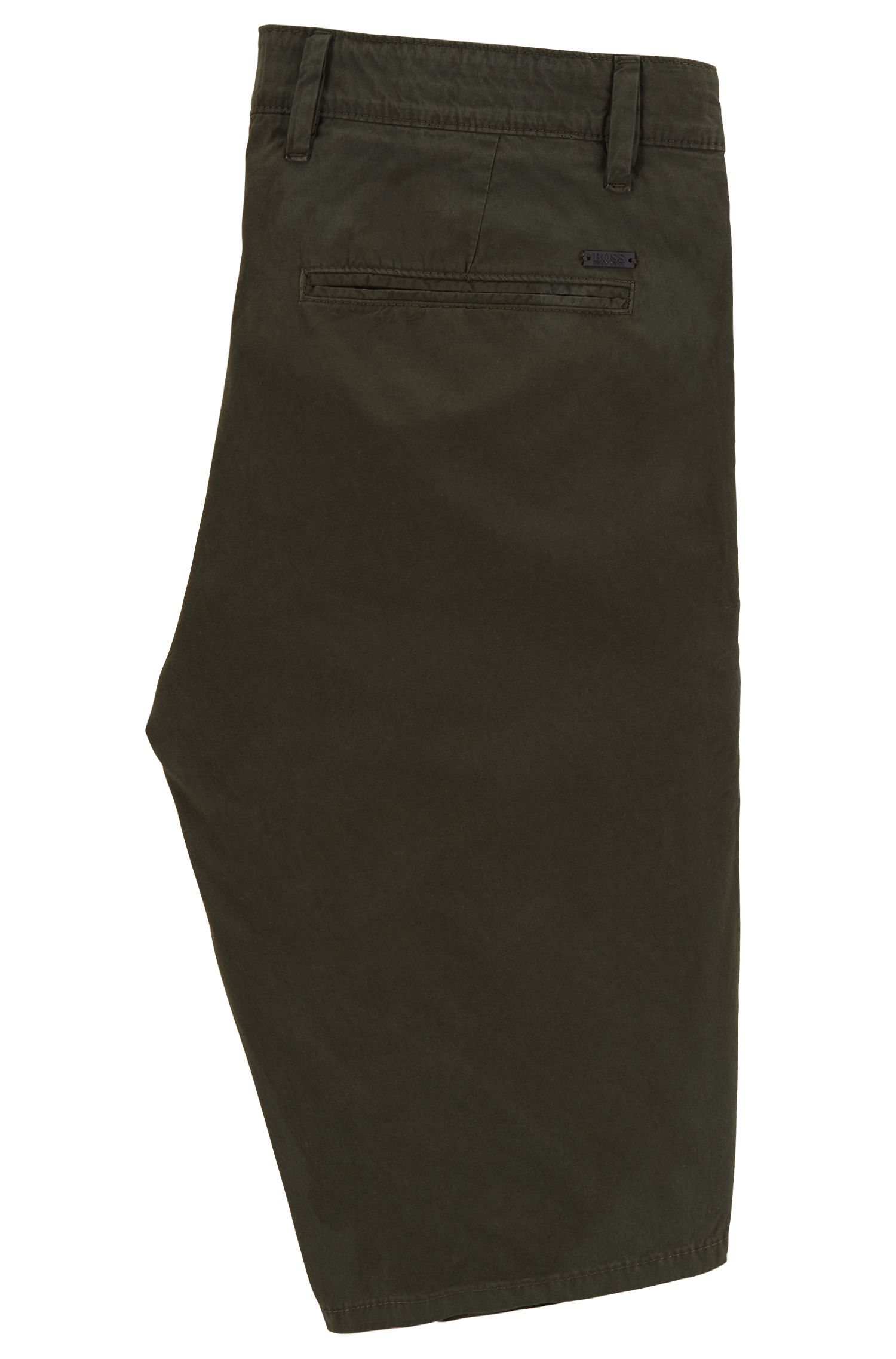 Regular-fit reactive-dyed shorts in pure cotton , Dark Green