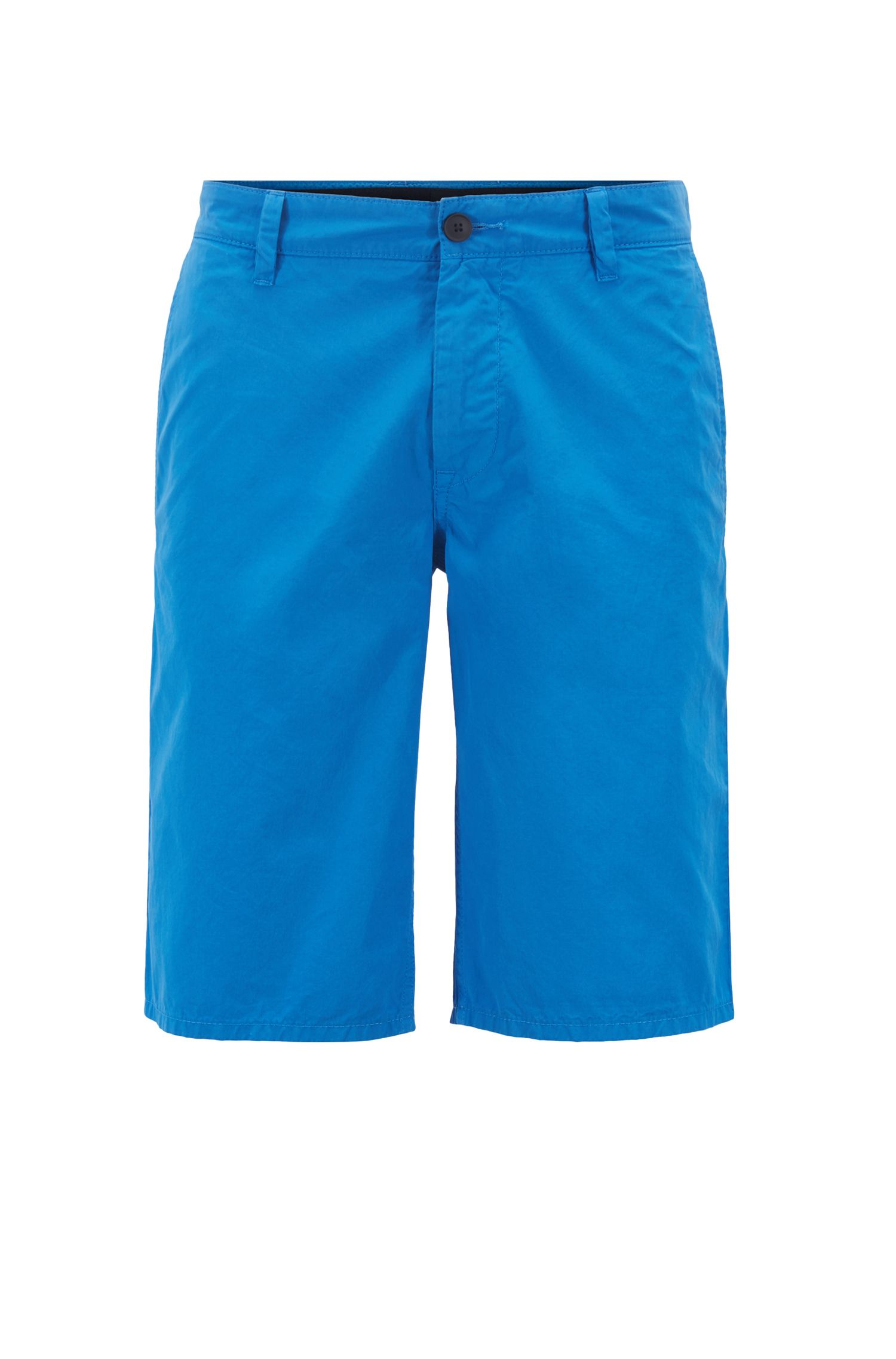 Regular-fit reactive-dyed shorts in pure cotton , Light Blue
