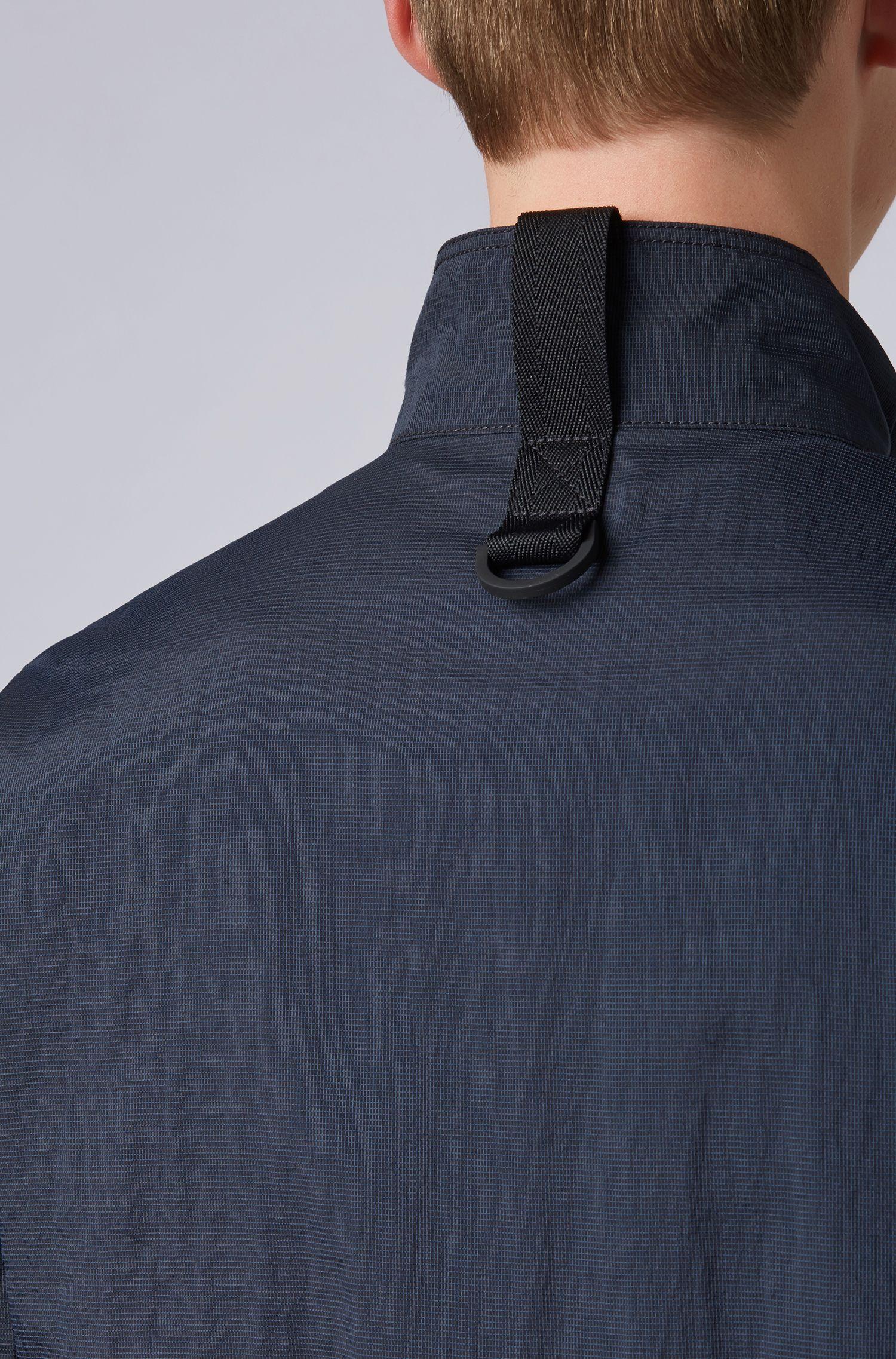 Waterafstotende jas van licht micro-meshmateriaal, Donkerblauw