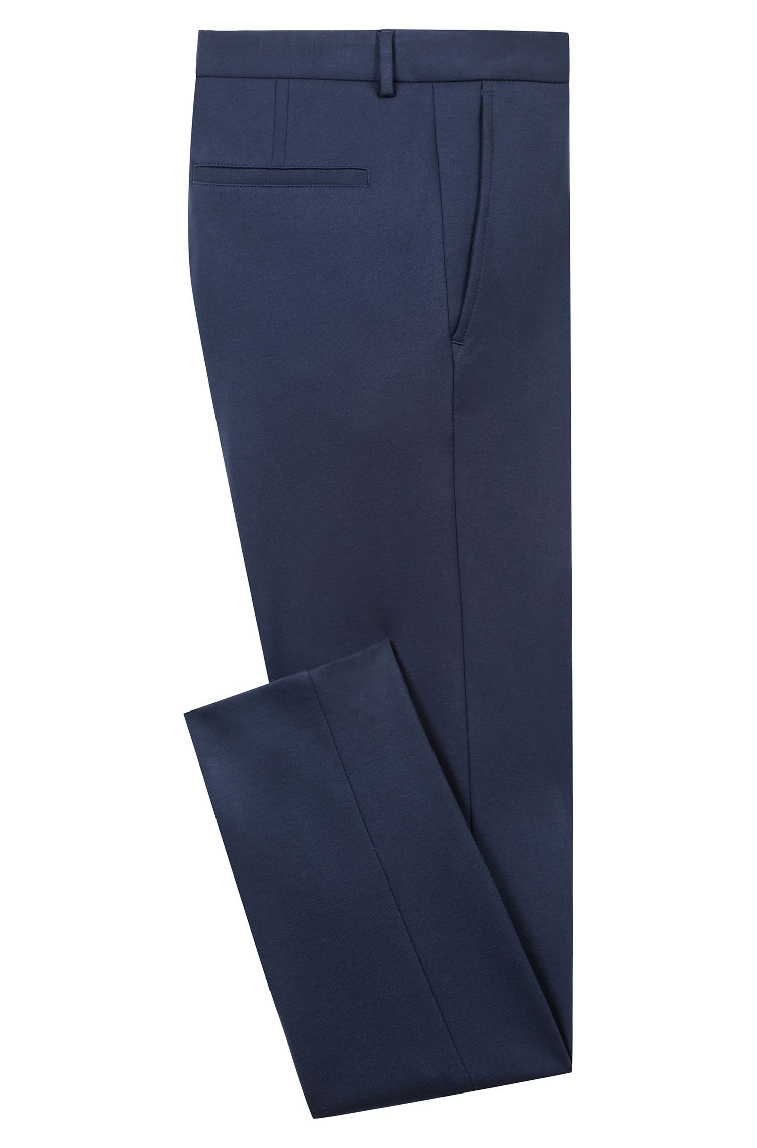 Pantalon Extra Slim Fit en jersey stretch de la collection capsule Bits & Bytes, Bleu foncé