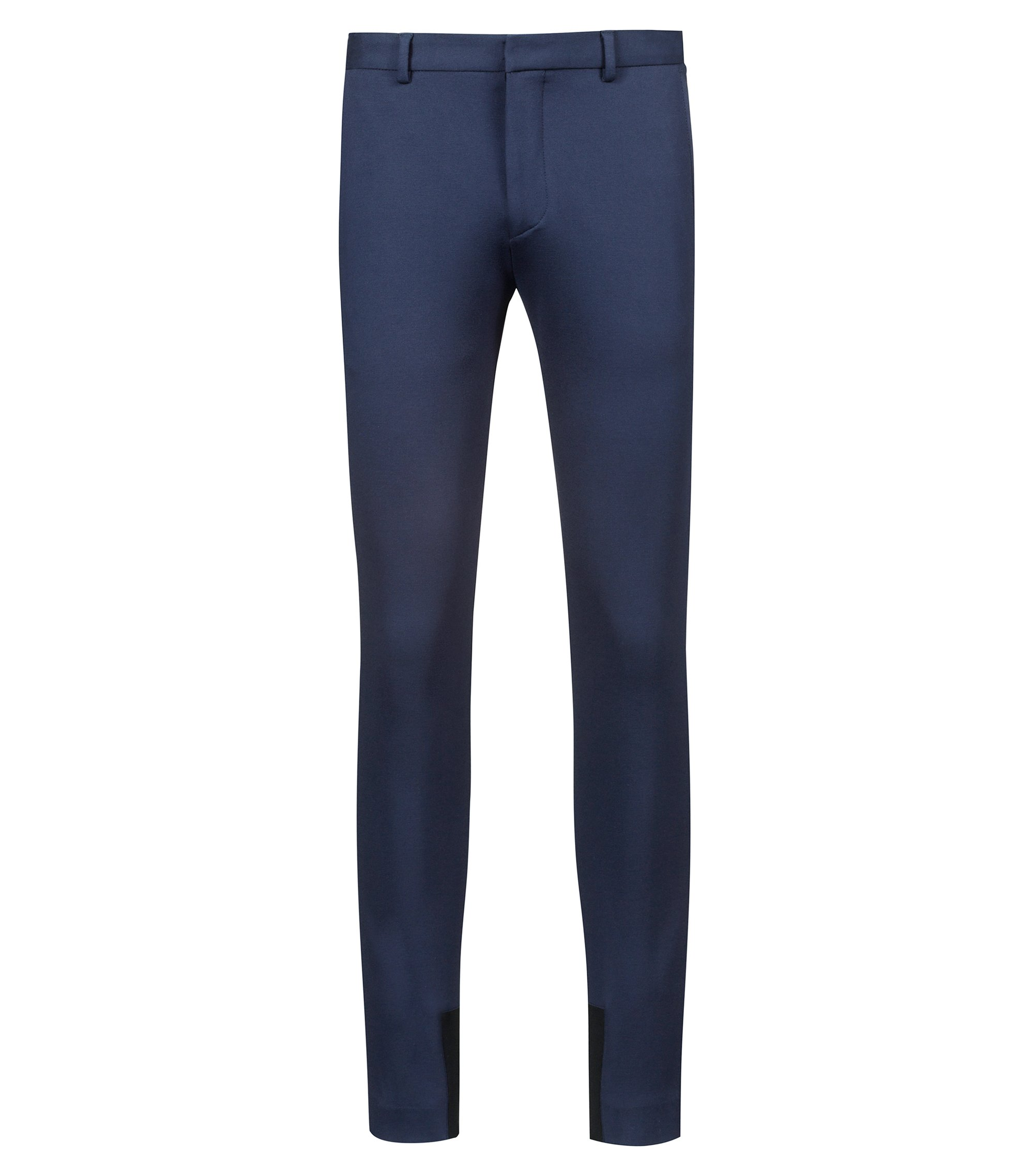 Bits & Bytes Capsule extra-slim-fit trousers in stretch jersey, Dark Blue
