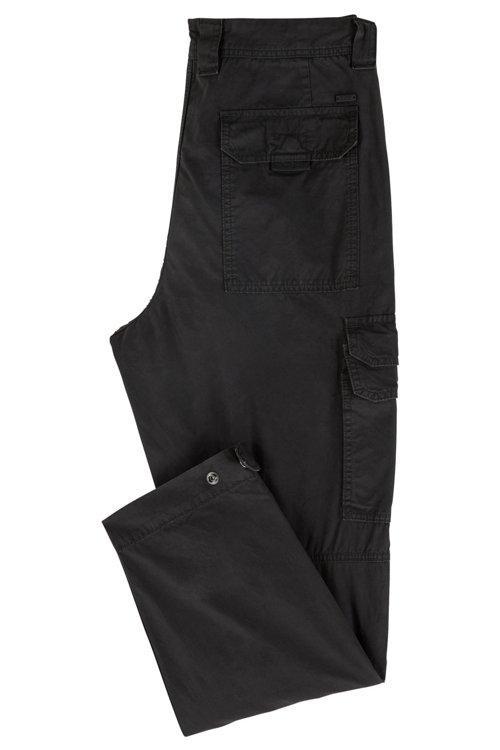 Hugo Boss - Pantalones cargo tapered fit en popelín de algodón con teñido doble - 3