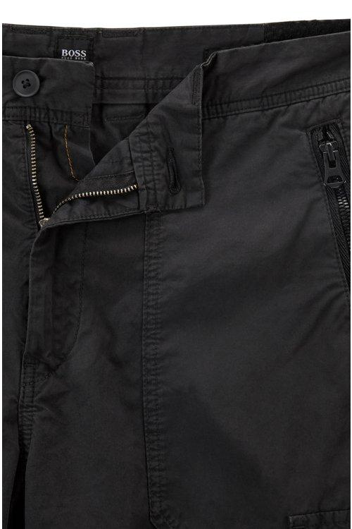 Hugo Boss - Pantalones cargo tapered fit en popelín de algodón con teñido doble - 4