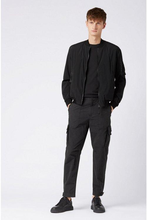 Hugo Boss - Pantalones cargo tapered fit en popelín de algodón con teñido doble - 2